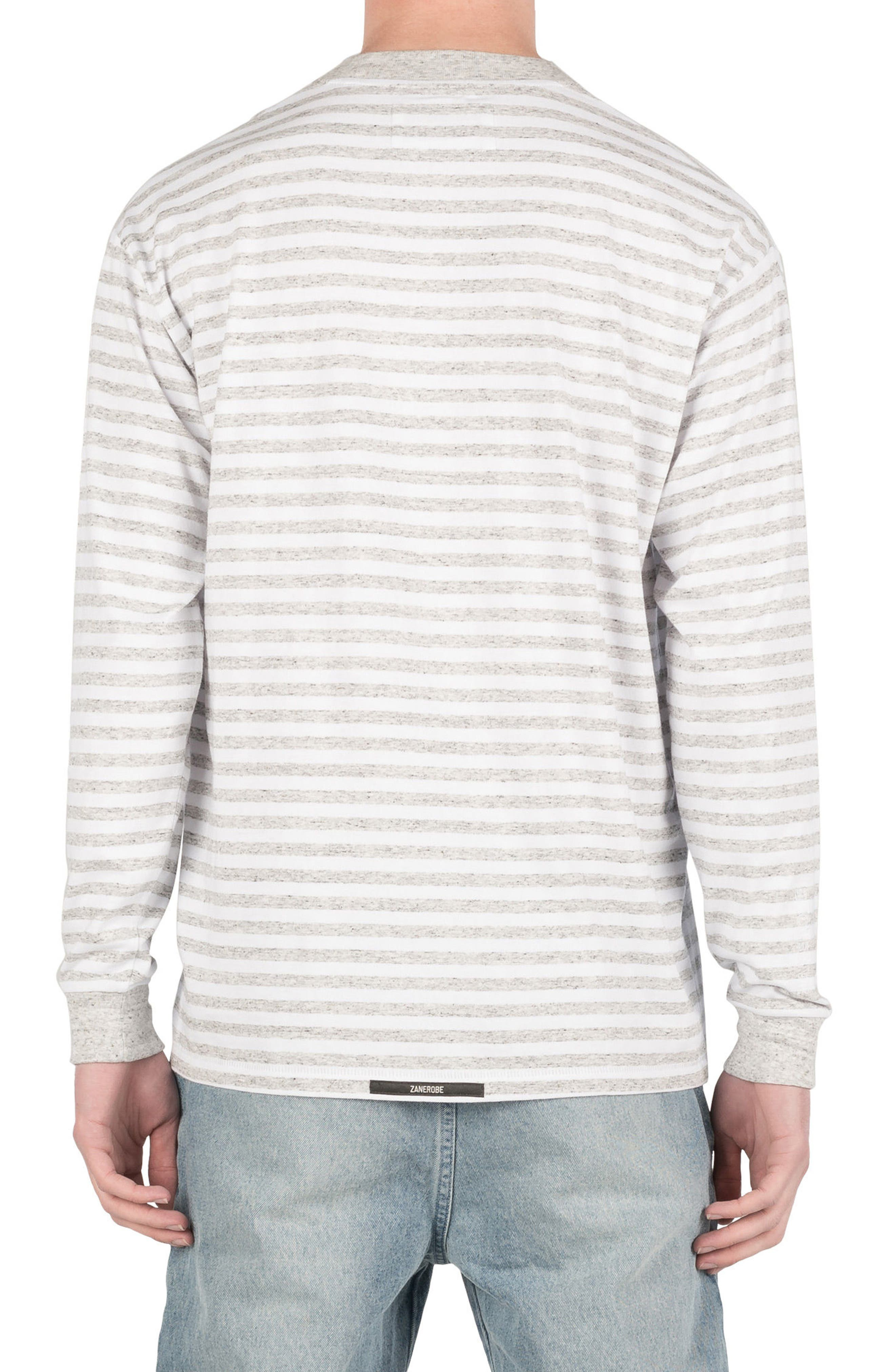 Box Long Sleeve T-Shirt,                             Alternate thumbnail 2, color,                             White/ Storm Marle