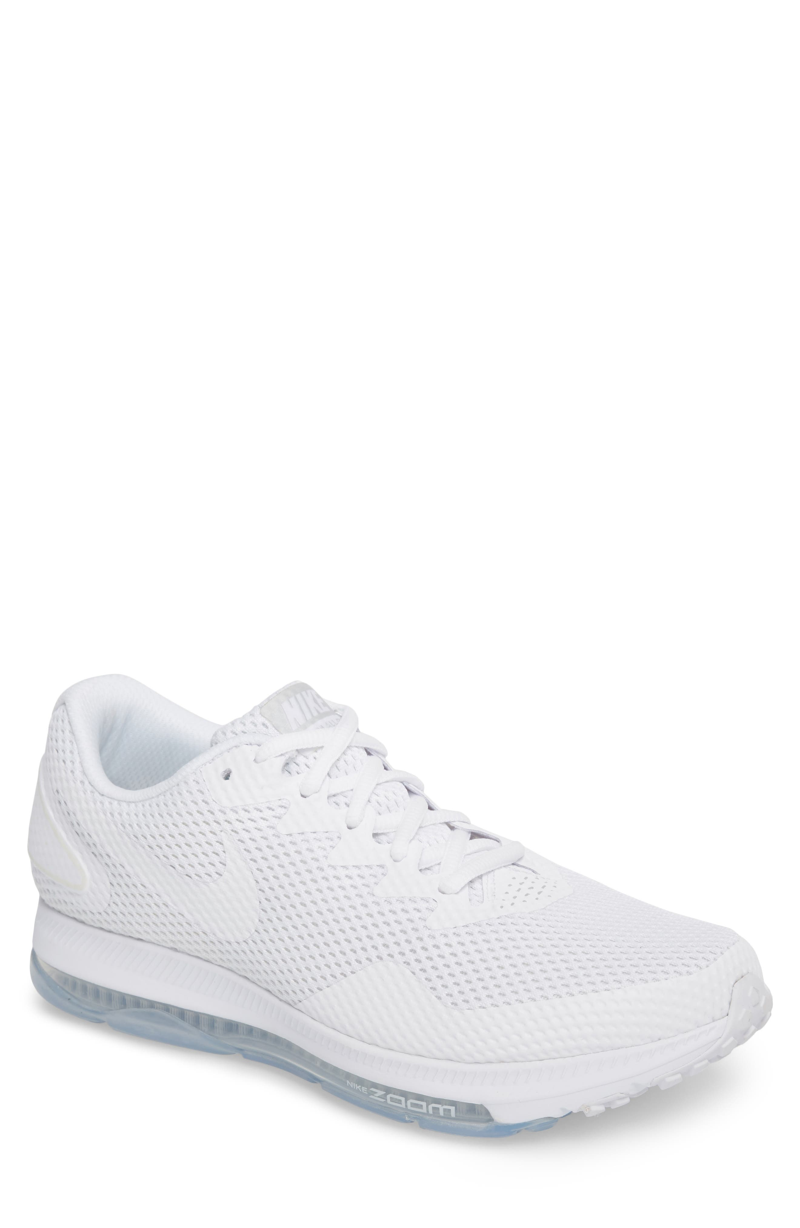 Zoom All Out Low 2 Running Shoe,                         Main,                         color, White/ White/ Off White