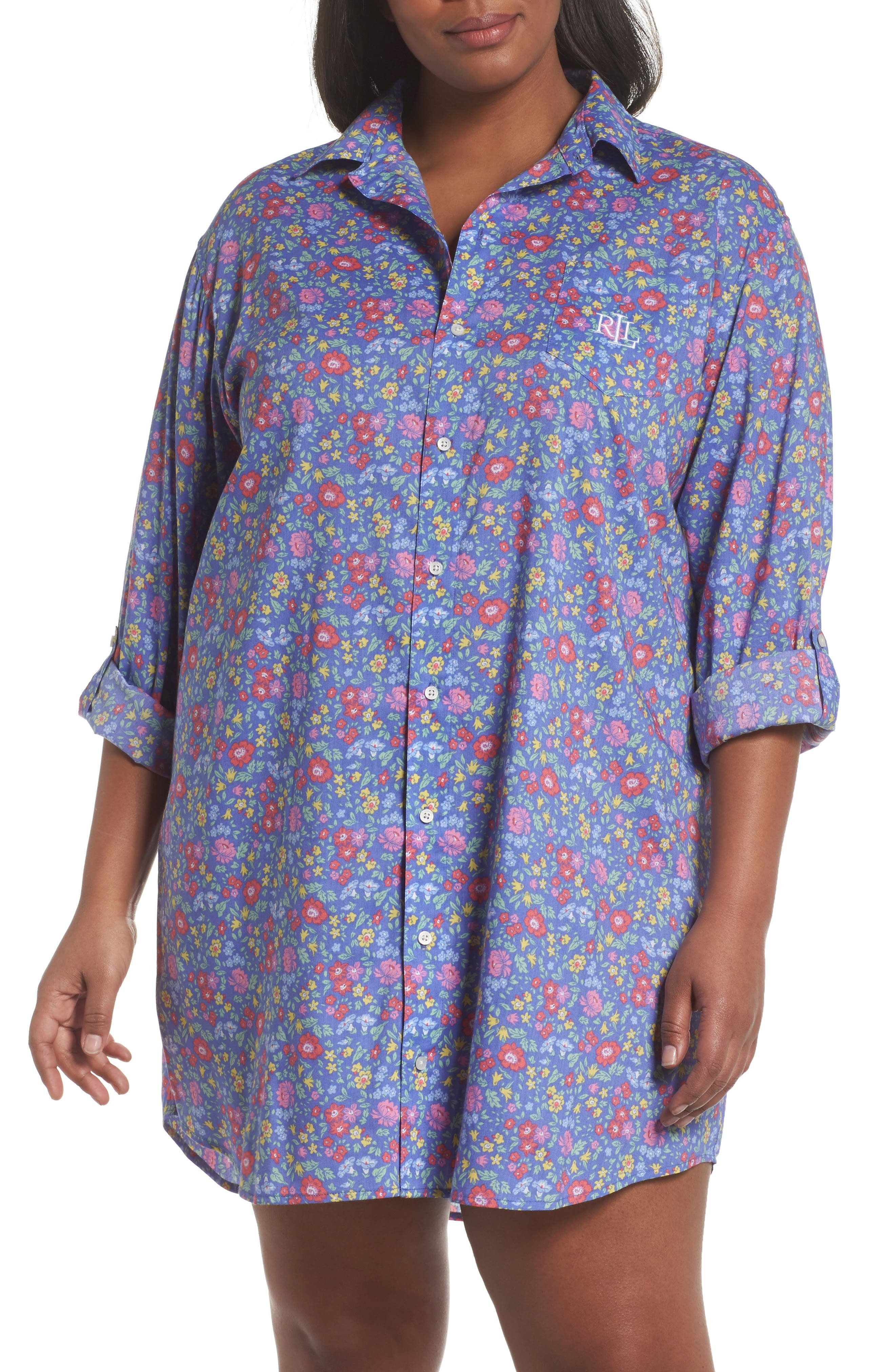 Lauren Ralph Lauren Night Shirt (Plus Size)