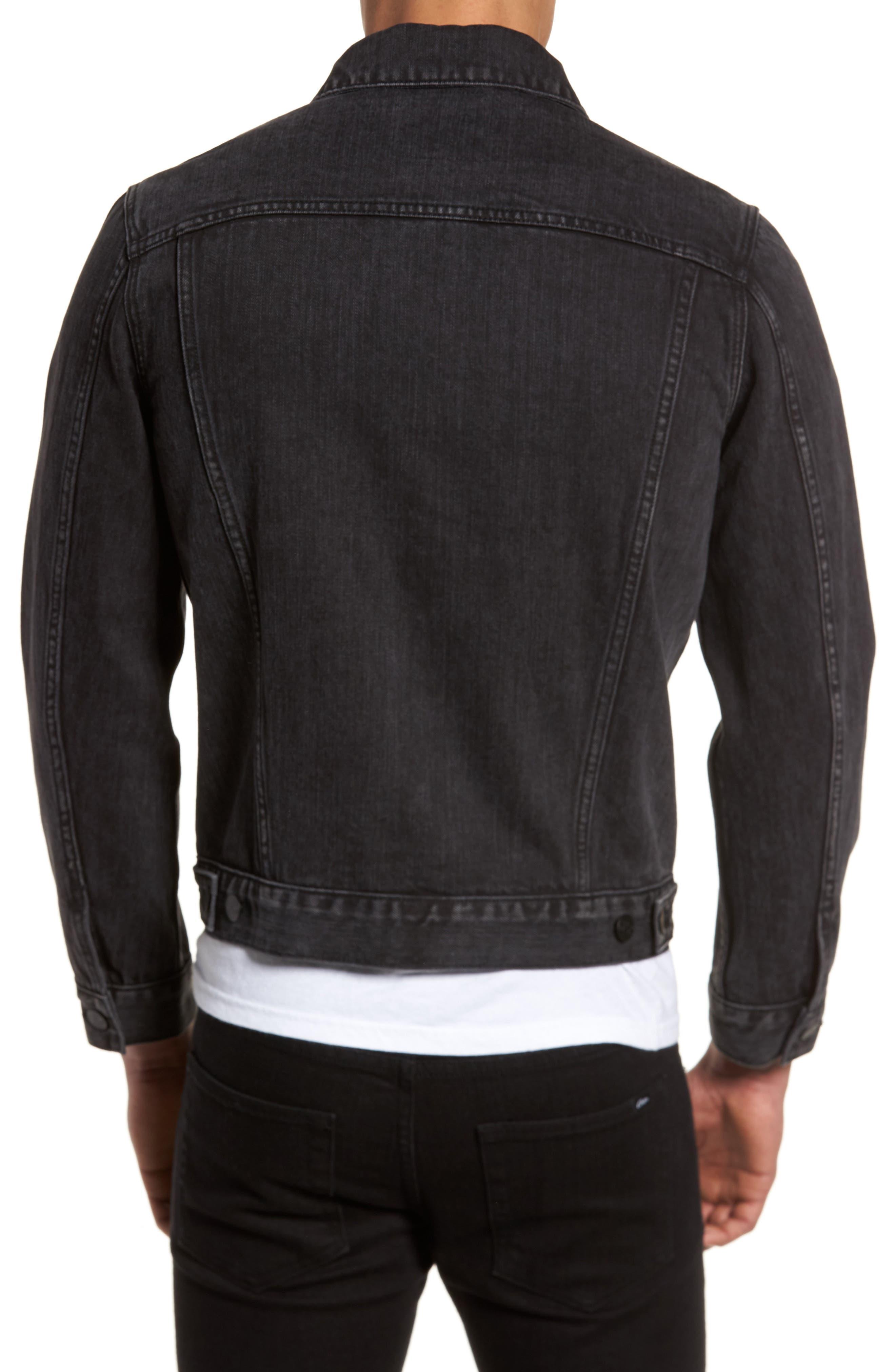 Denim Jacket,                             Alternate thumbnail 2, color,                             Black Wash
