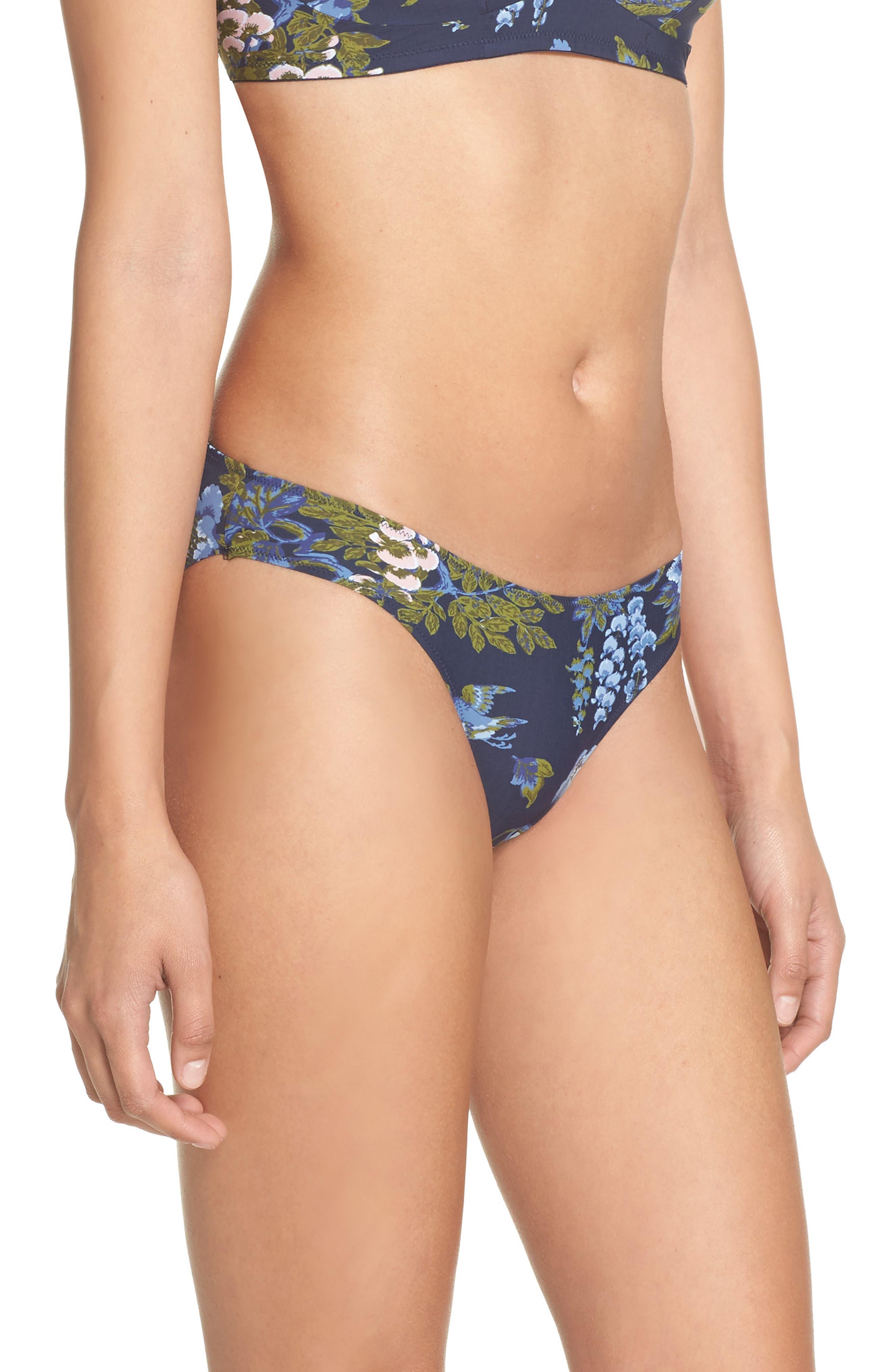 Zahra Brazilian Panties,                             Alternate thumbnail 3, color,                             Big Flower Print