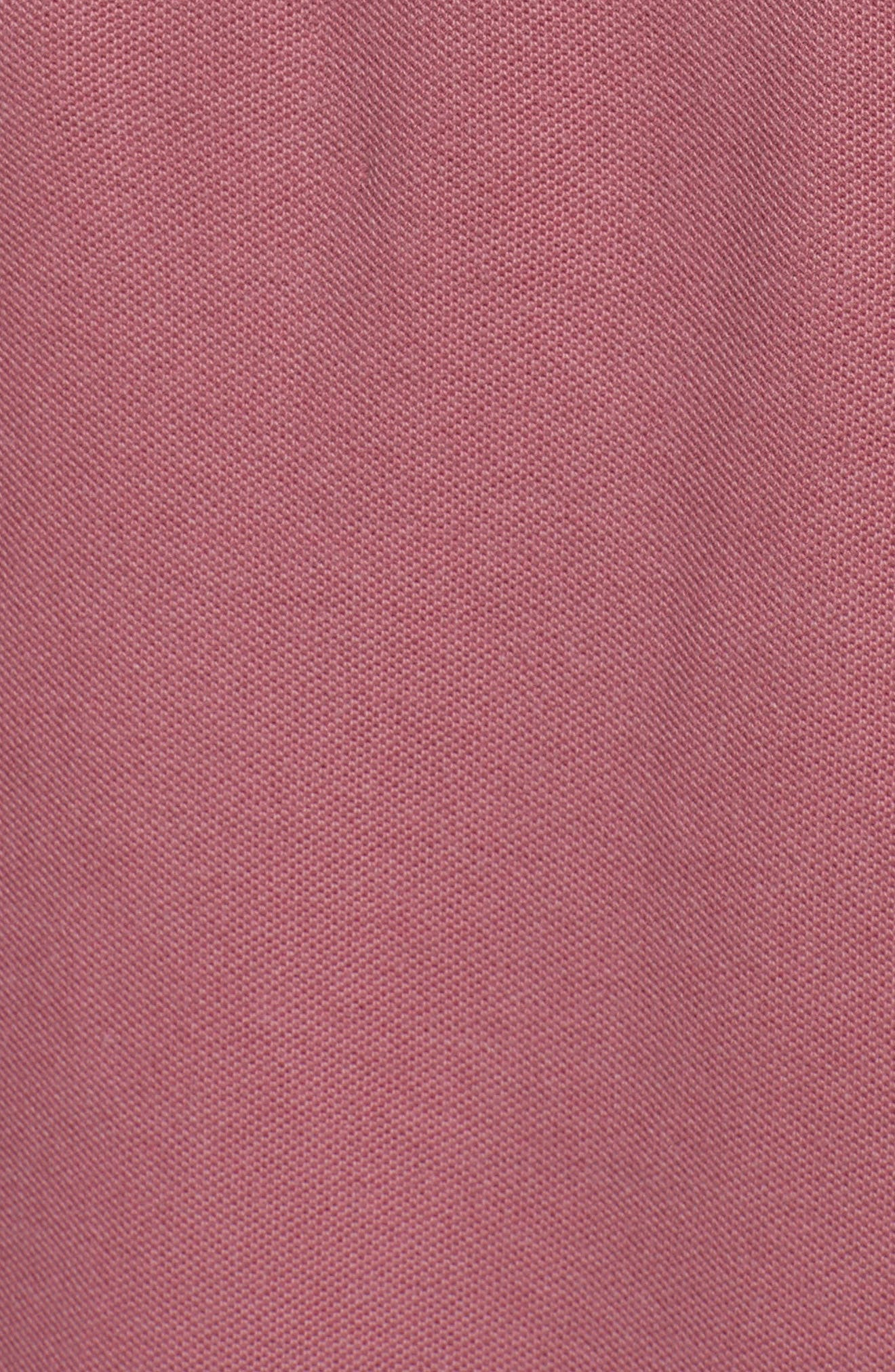Piqué Hooded Dress,                             Alternate thumbnail 5, color,                             Nantucket Red
