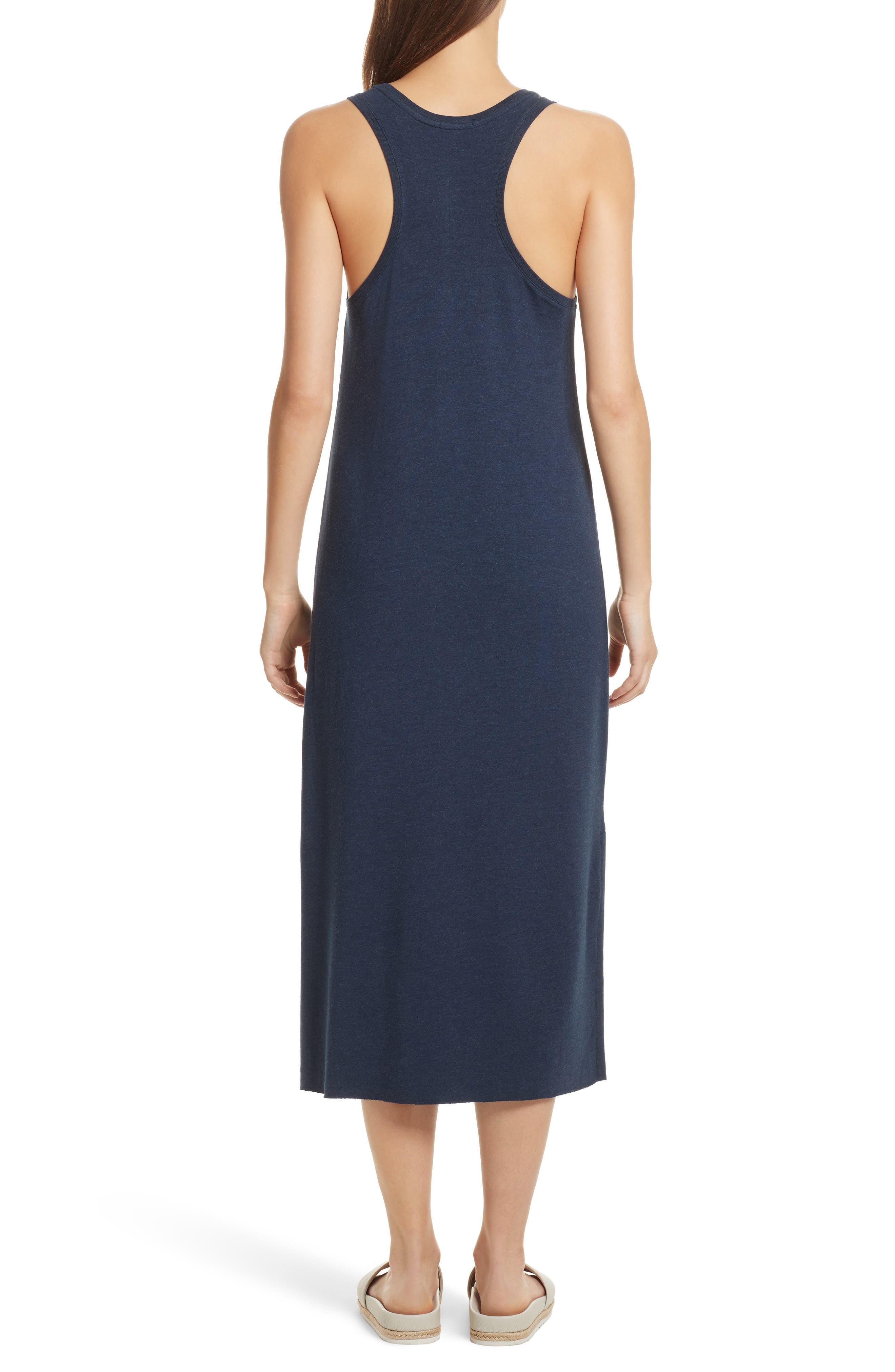 Pocket Midi Dress,                             Alternate thumbnail 2, color,                             Heather Denim