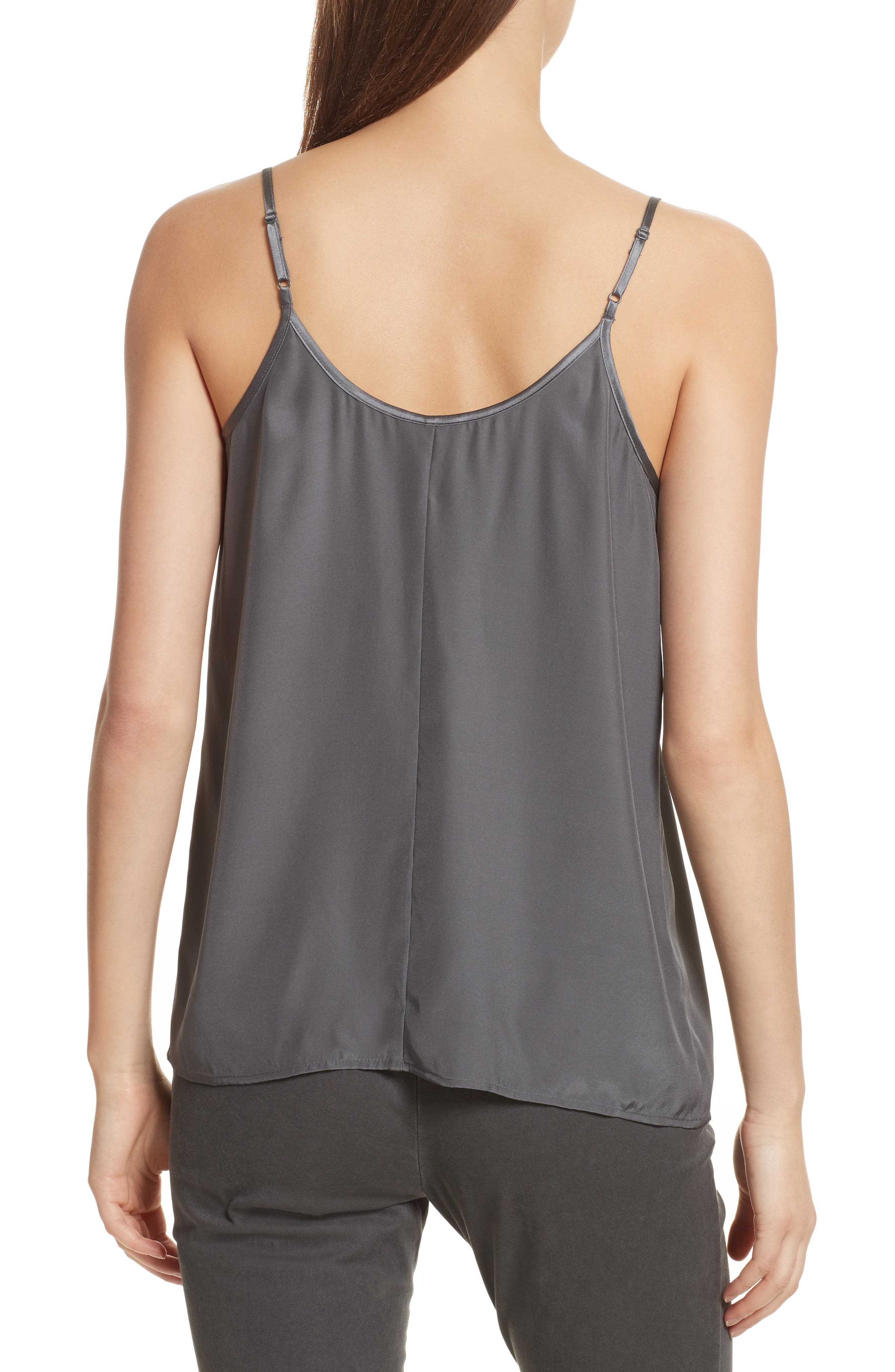 Silk Camisole,                             Alternate thumbnail 2, color,                             Steel