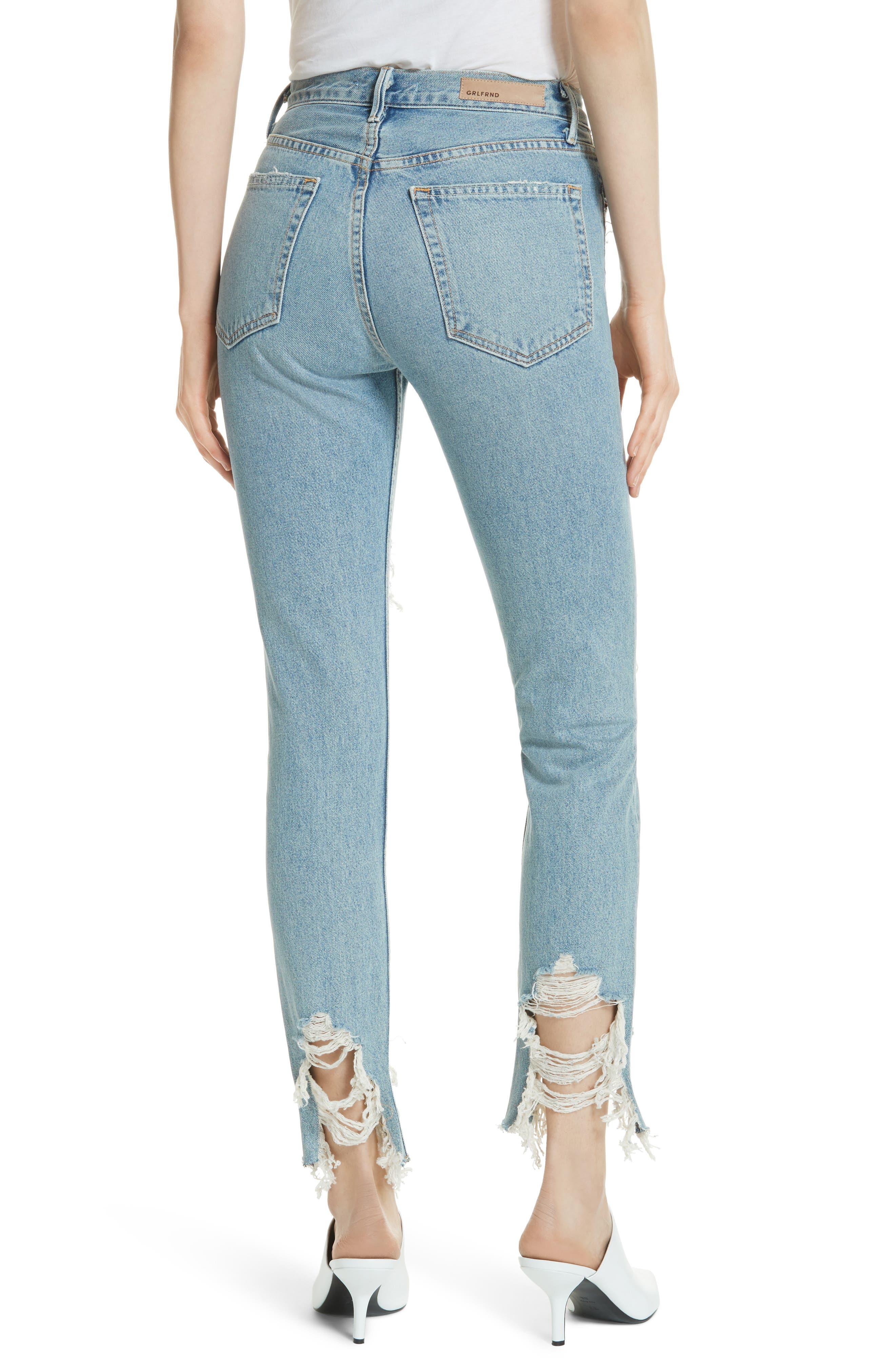 Karolina High Waist Jeans,                             Alternate thumbnail 2, color,                             Tough Love G538