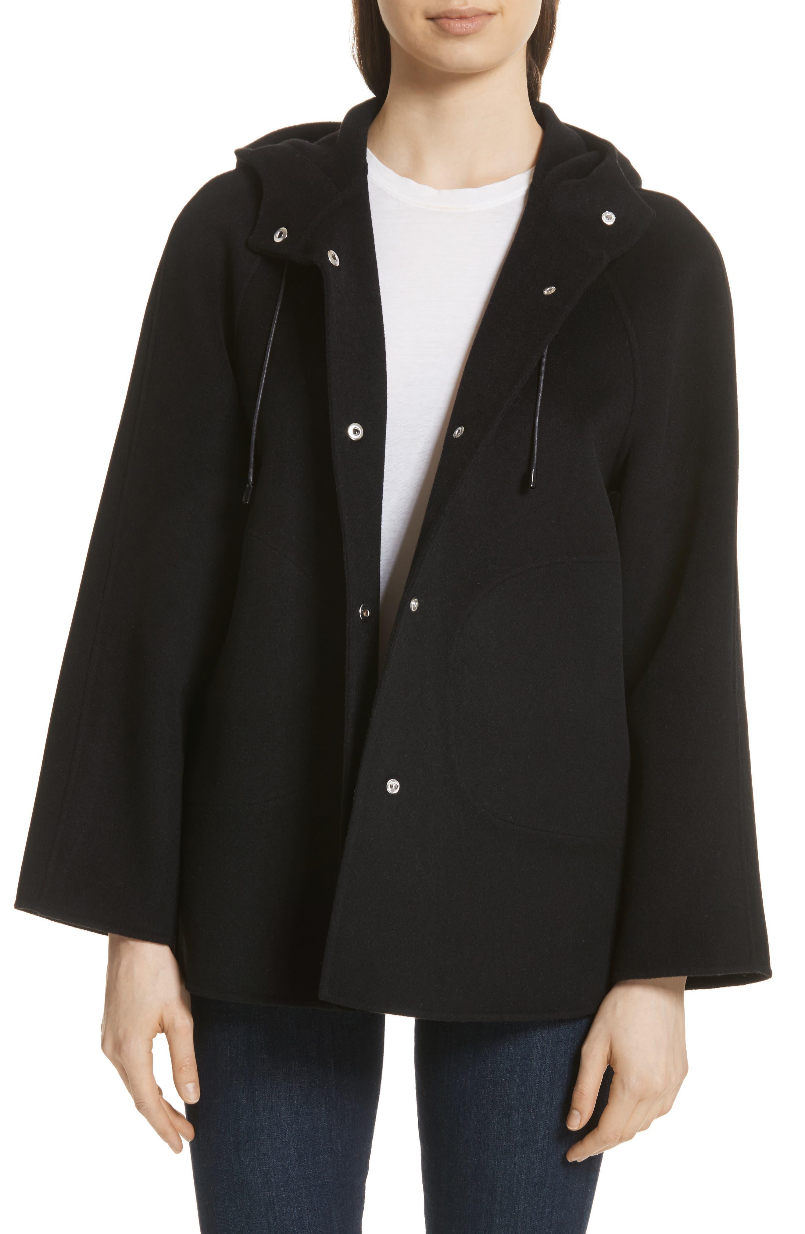 Rowan Double Wool Coat,                             Main thumbnail 1, color,                             Black