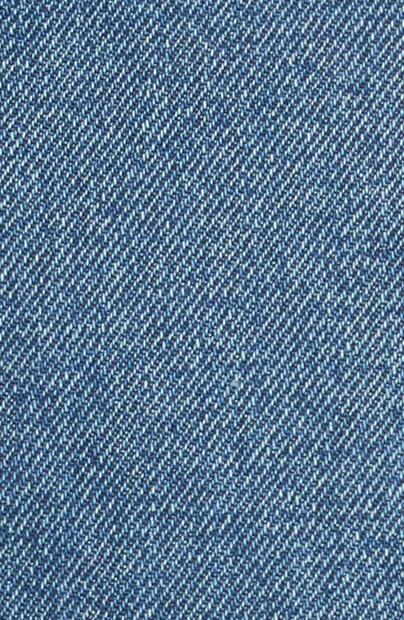 Alternate Image 5  - GRLFRND Eva Denim A-Frame Gusset Skirt