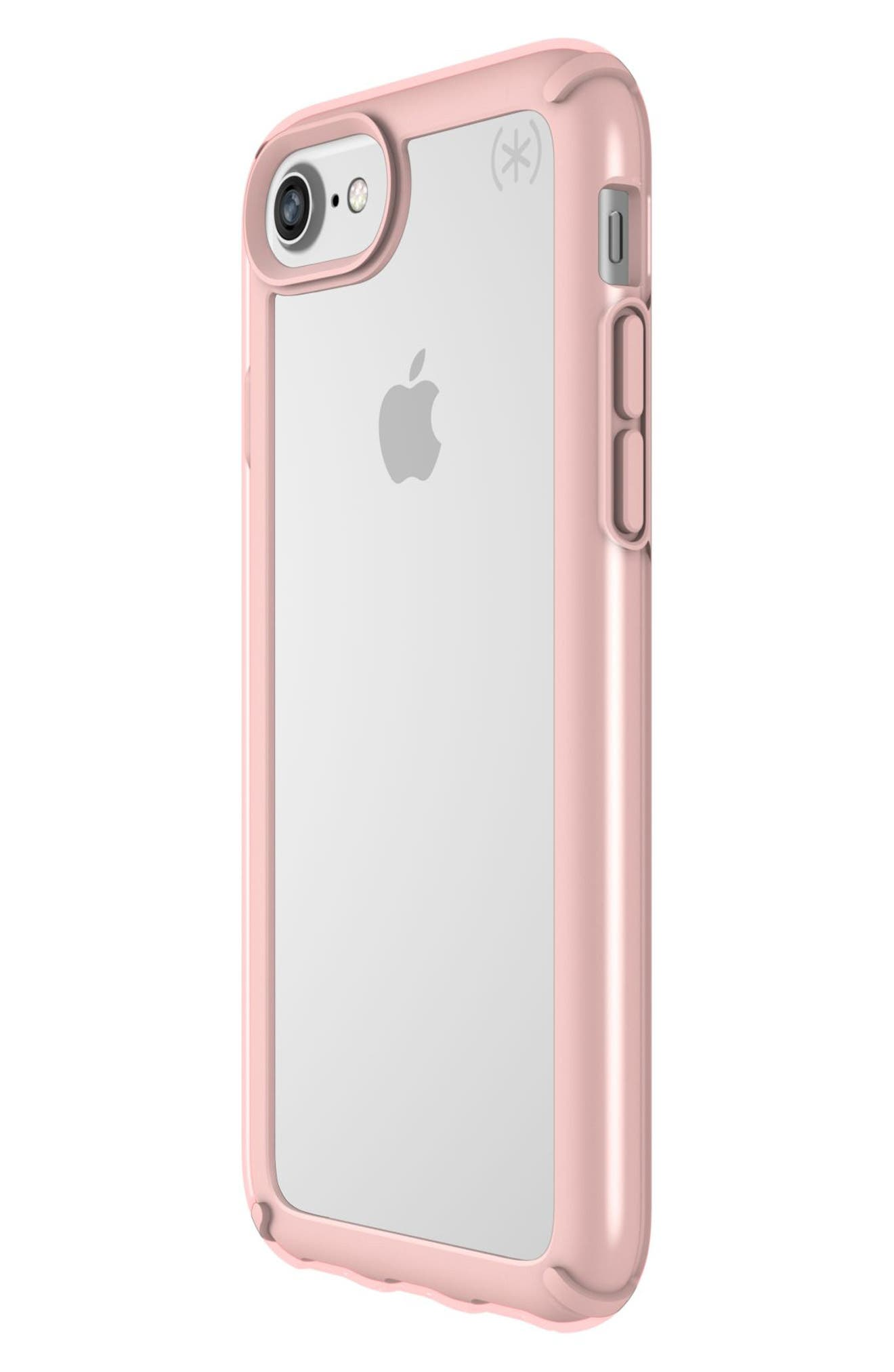 Transparent iPhone 6/6s/7/8 Case,                             Alternate thumbnail 3, color,                             Clear/ Rose Gold