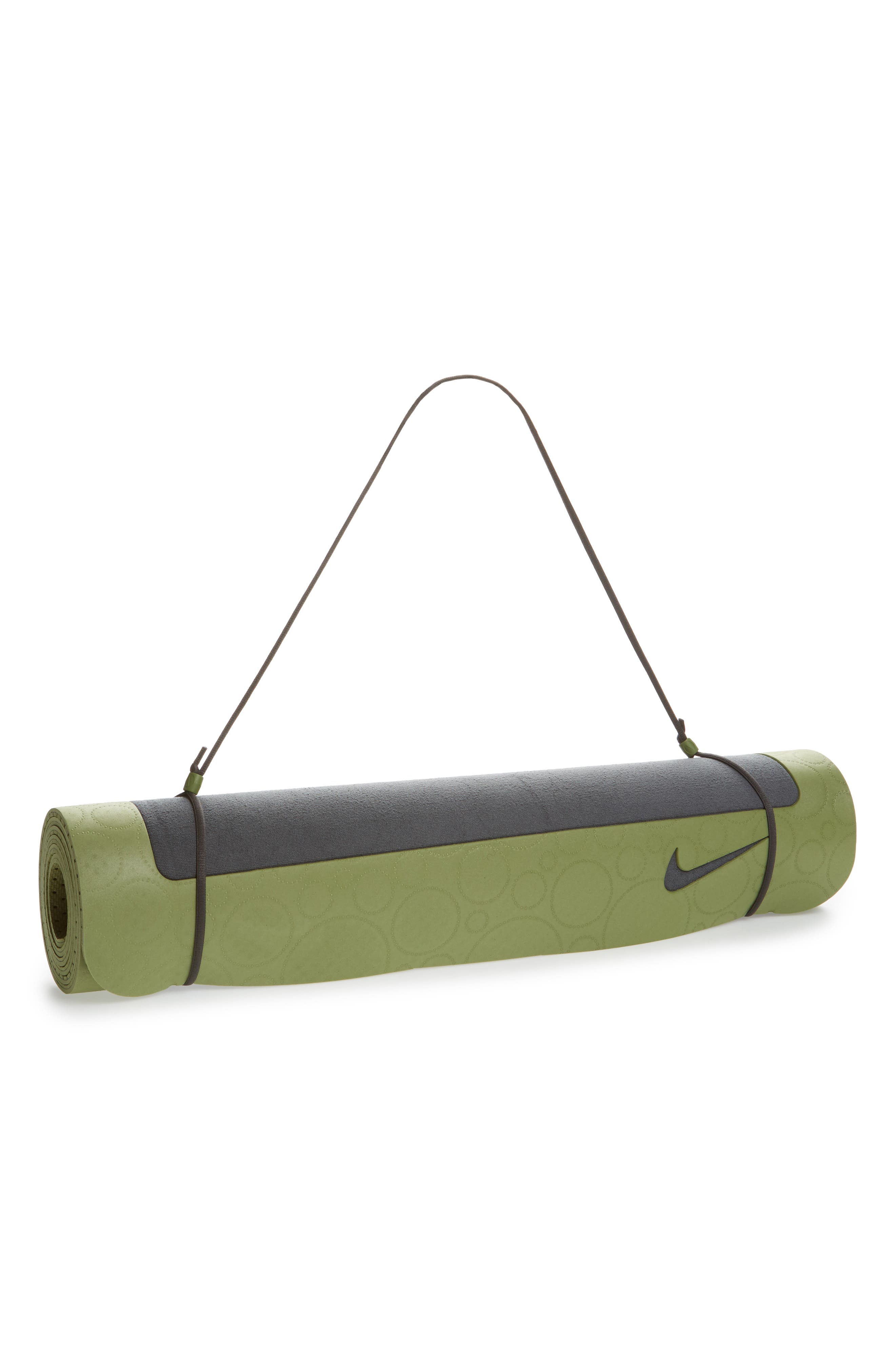 Ultimate 8mm Foam Pilates Mat,                         Main,                         color, Anthracite/ Palm Green
