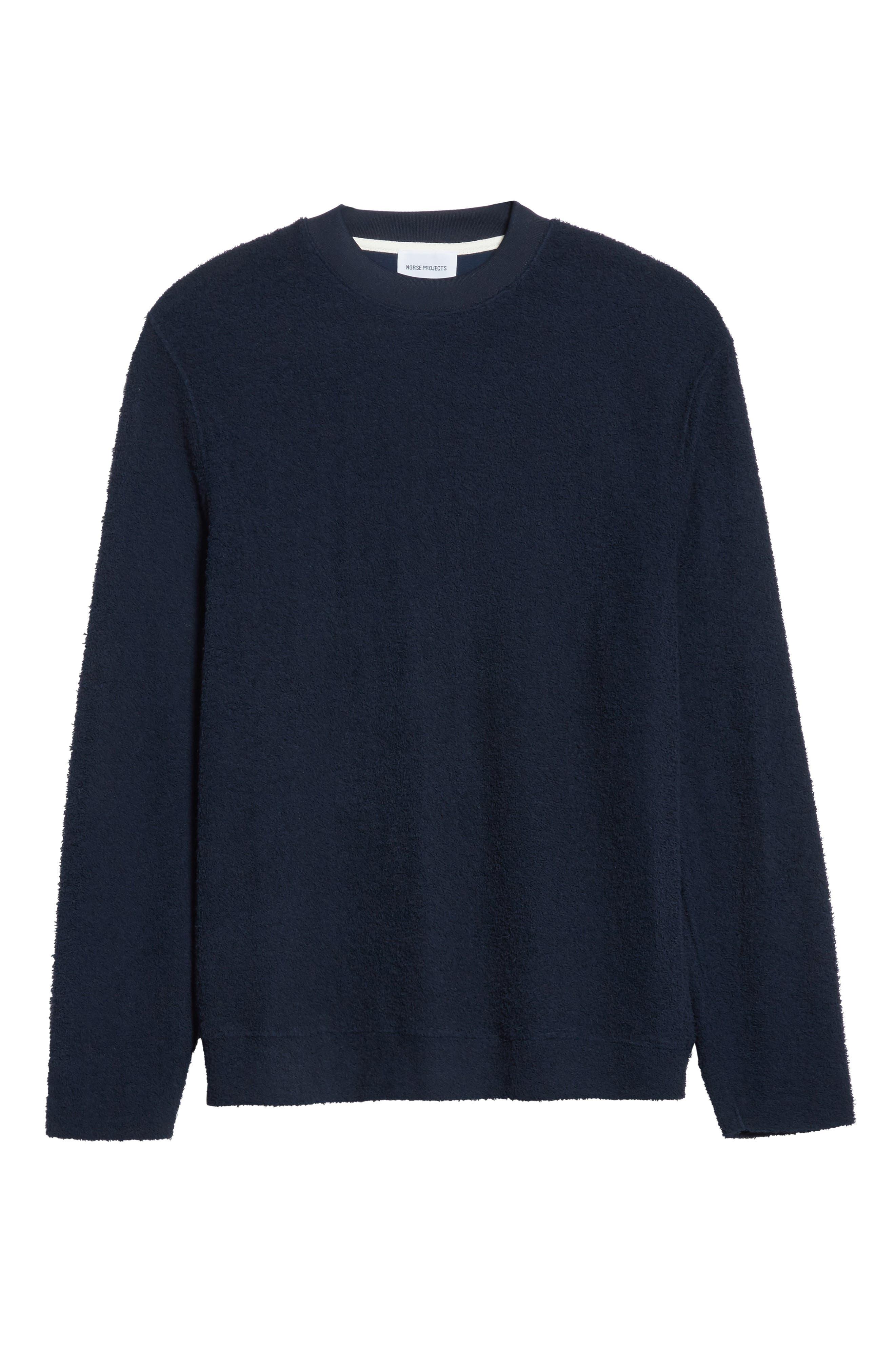 Rask Crewneck Sweatshirt,                             Alternate thumbnail 6, color,                             Dark Navy