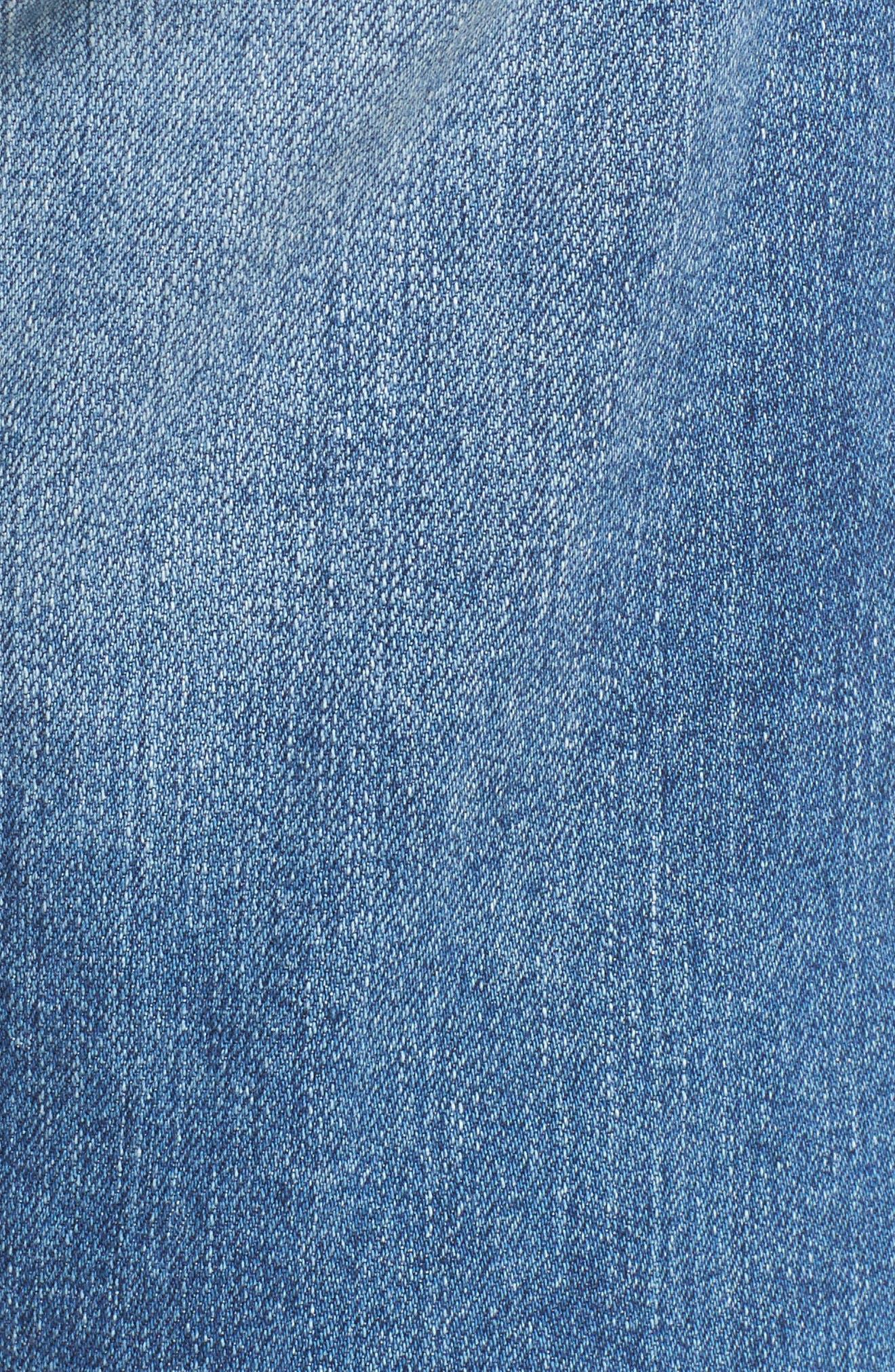 Nikki Cutoff Denim Shorts,                             Alternate thumbnail 6, color,                             16 Years Indigo Deluge Destr