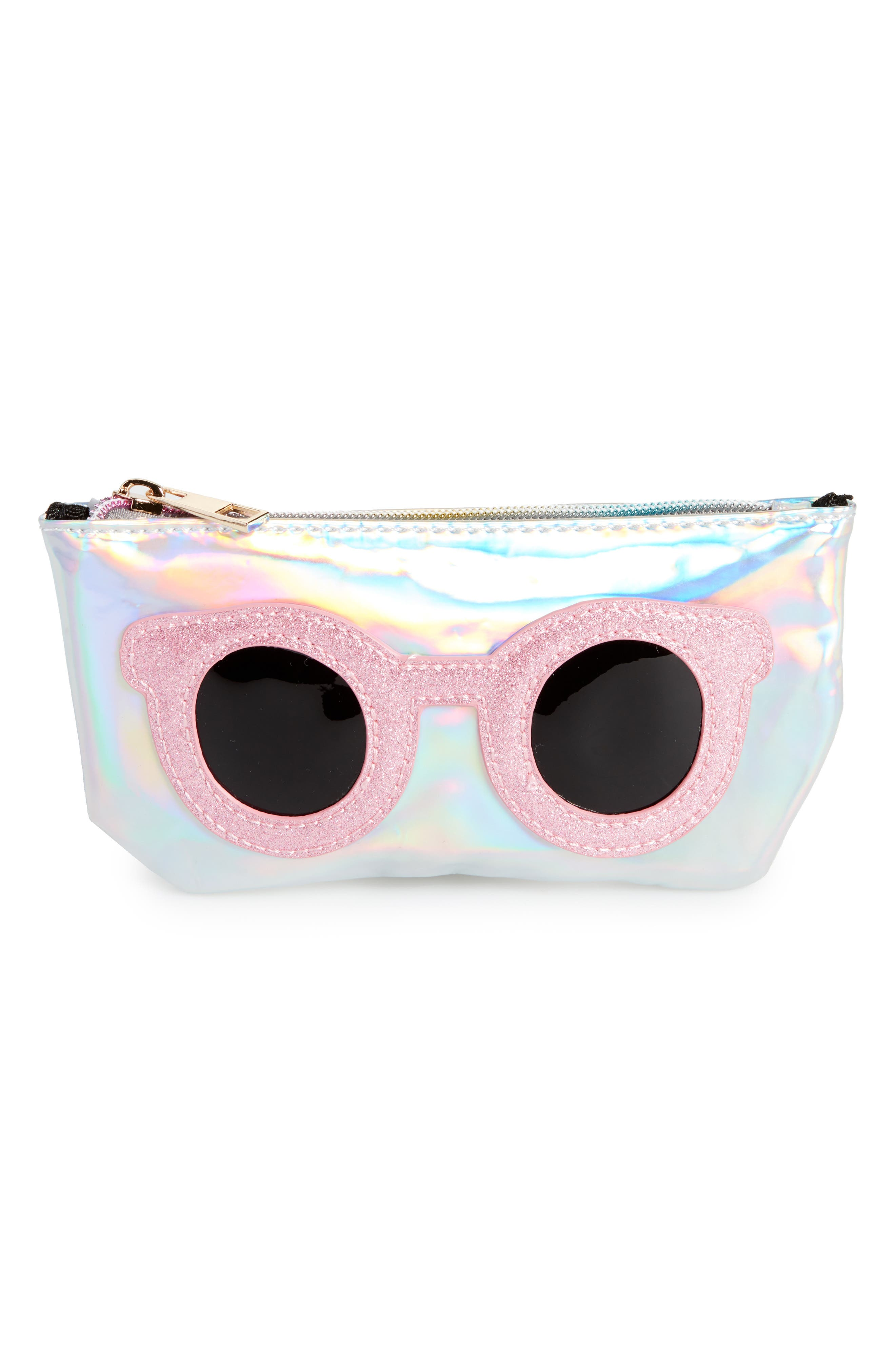 Main Image - OMG Metallic Sunnies Sunglasses Case