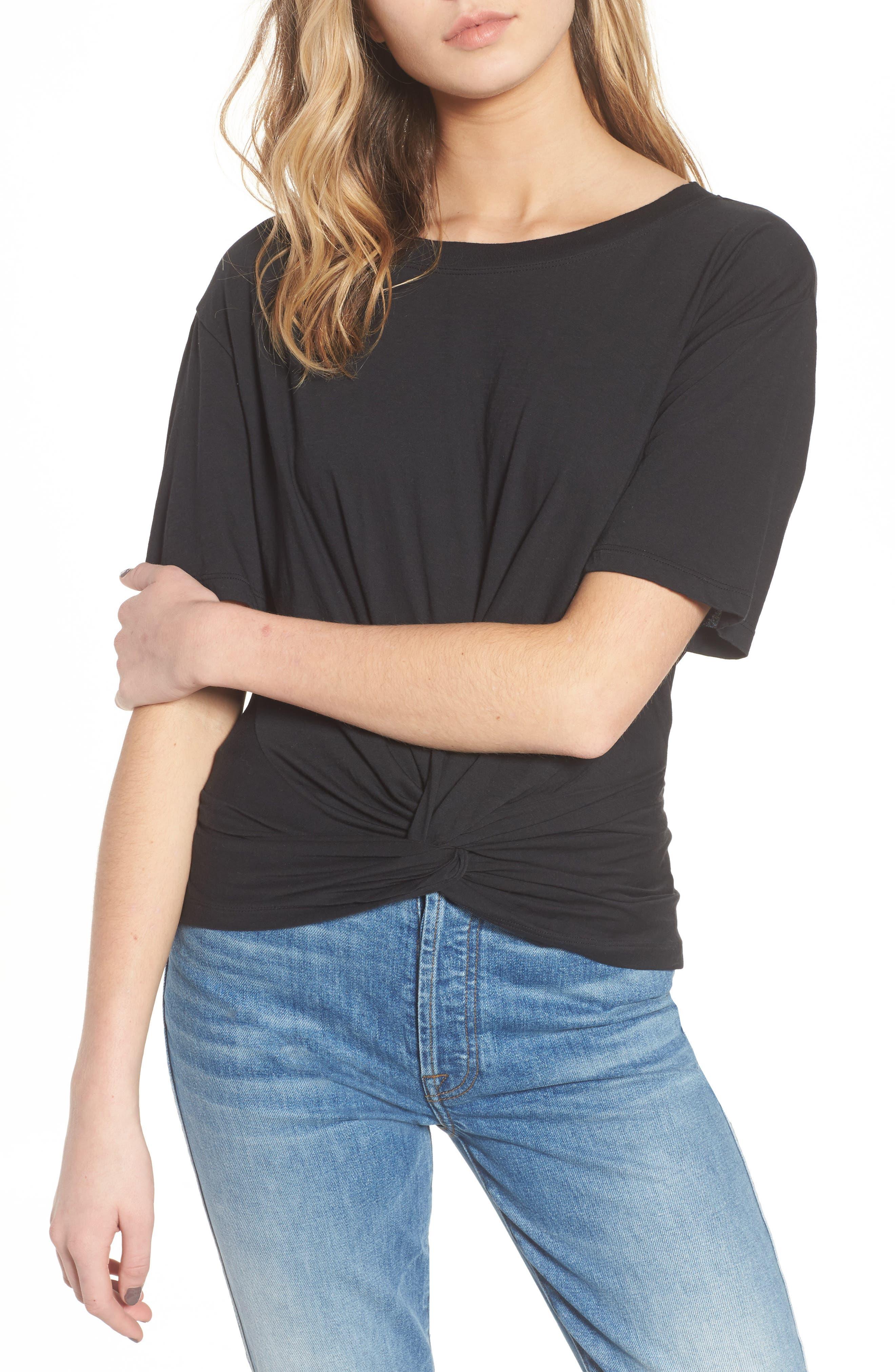 7 For All Mankind® Knotted Front Tee