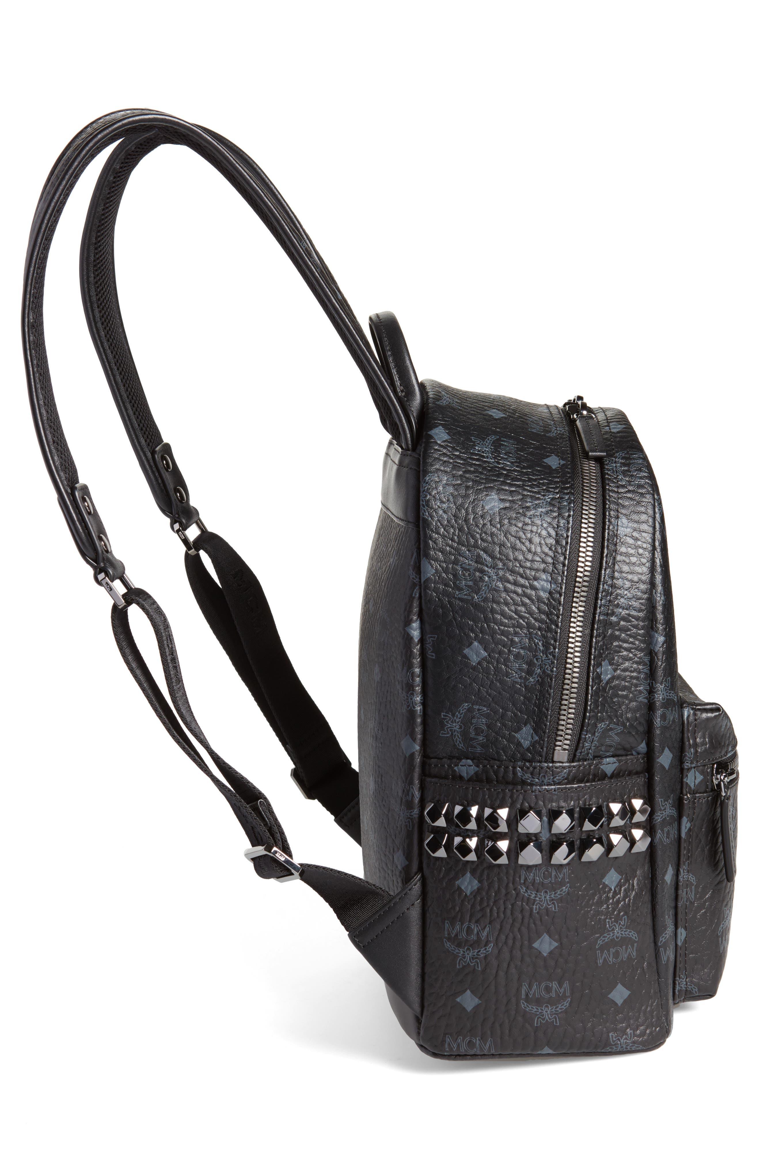 Small Stark Side Stud Backpack,                             Alternate thumbnail 5, color,                             Black