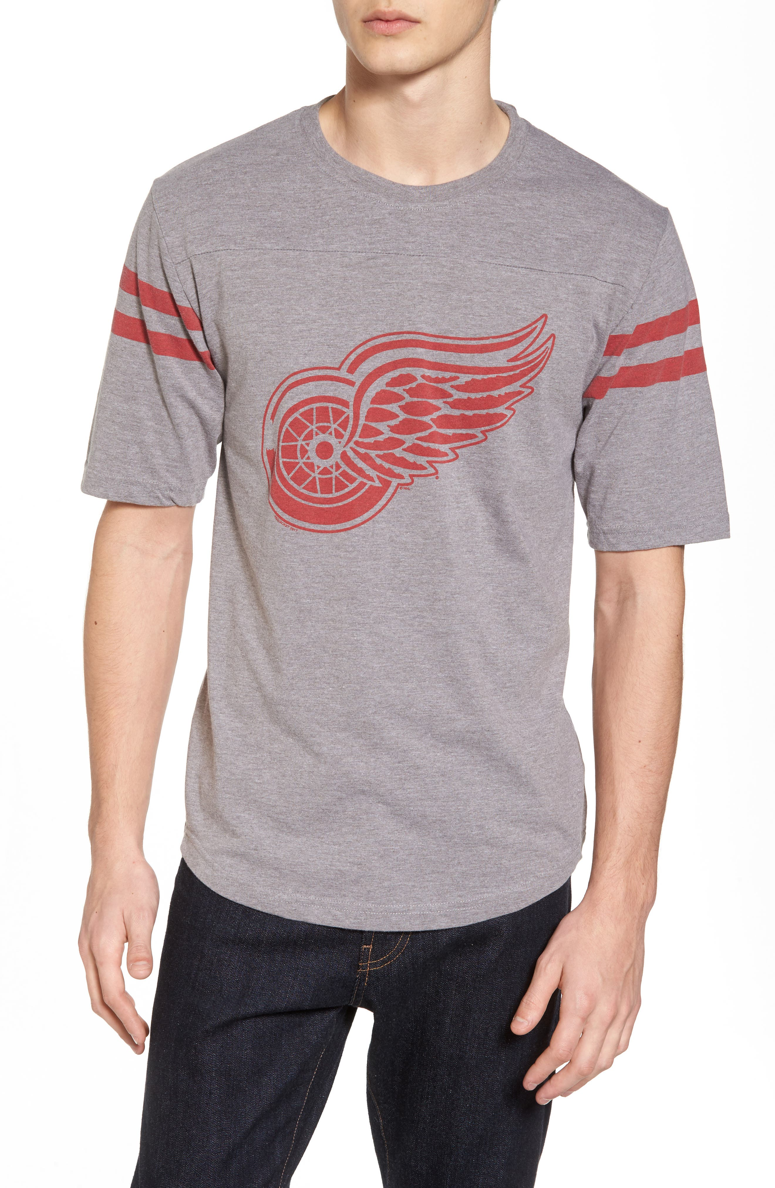 Crosby Detroit Red Wings T-Shirt,                         Main,                         color, Heather Grey