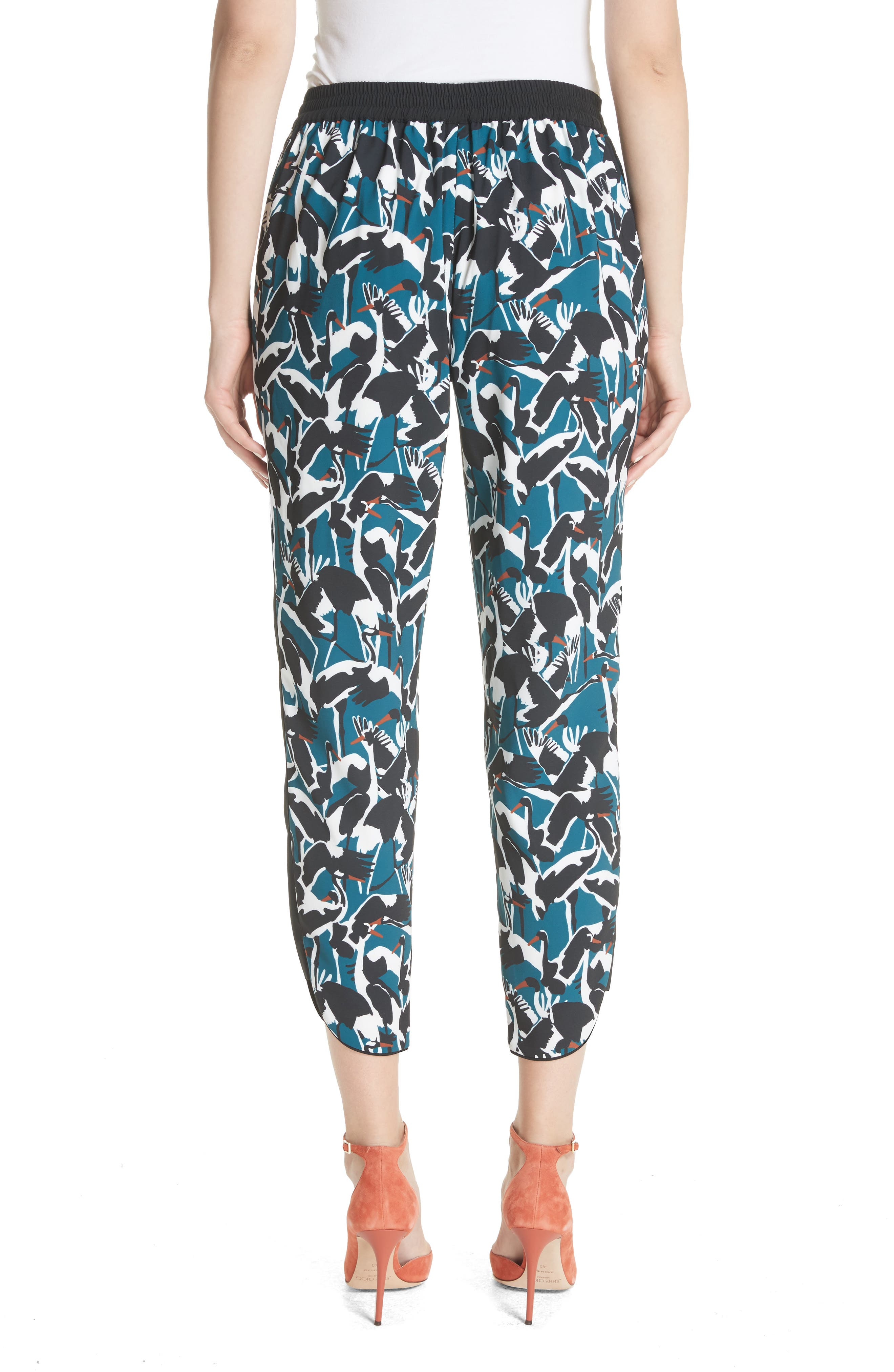 Colour by Numbers Print Jogger Pants,                             Alternate thumbnail 2, color,                             Teal