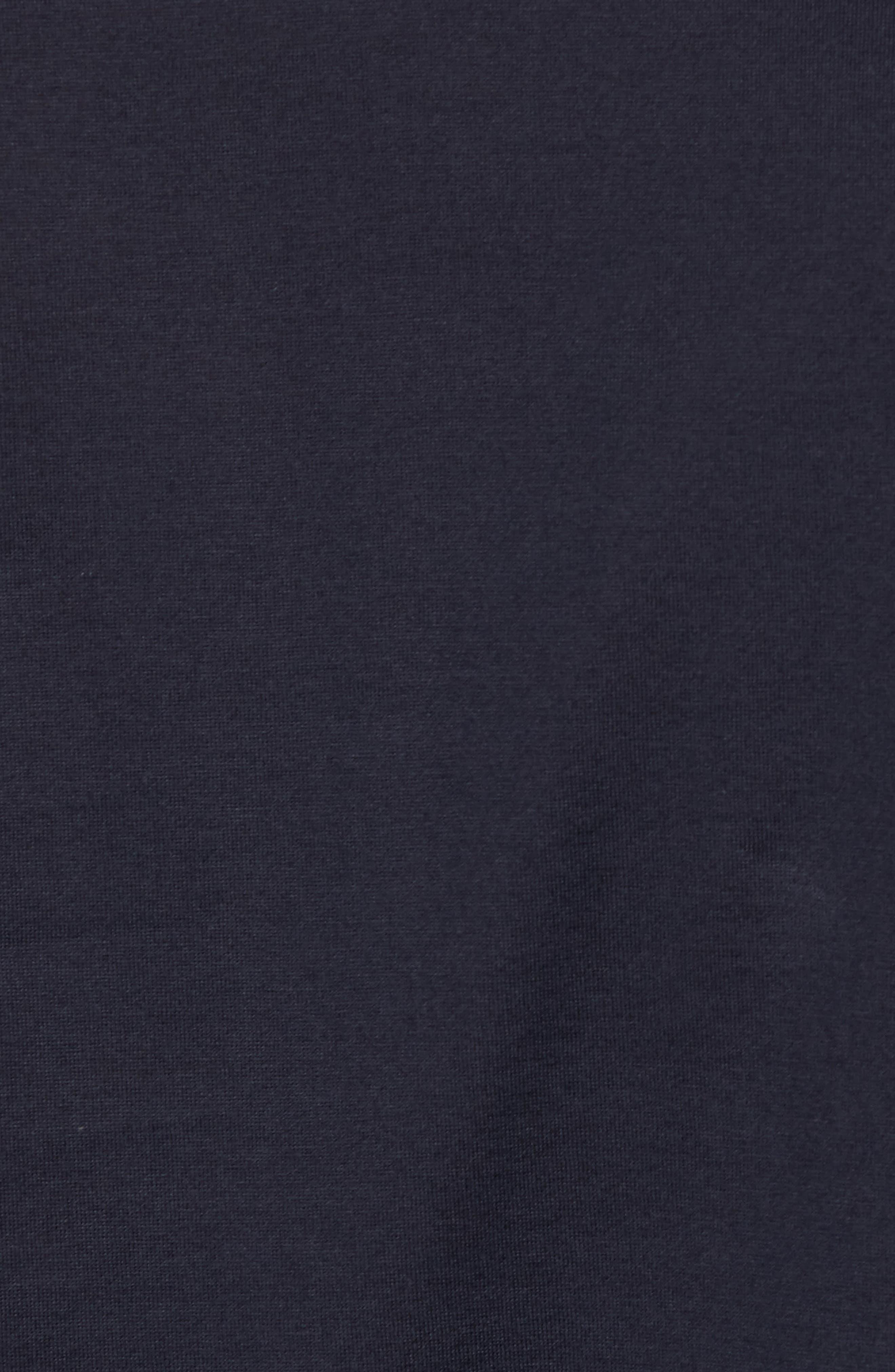 Mercerized Cotton Crewneck Long Sleeve T-Shirt,                             Alternate thumbnail 5, color,                             Navy Night