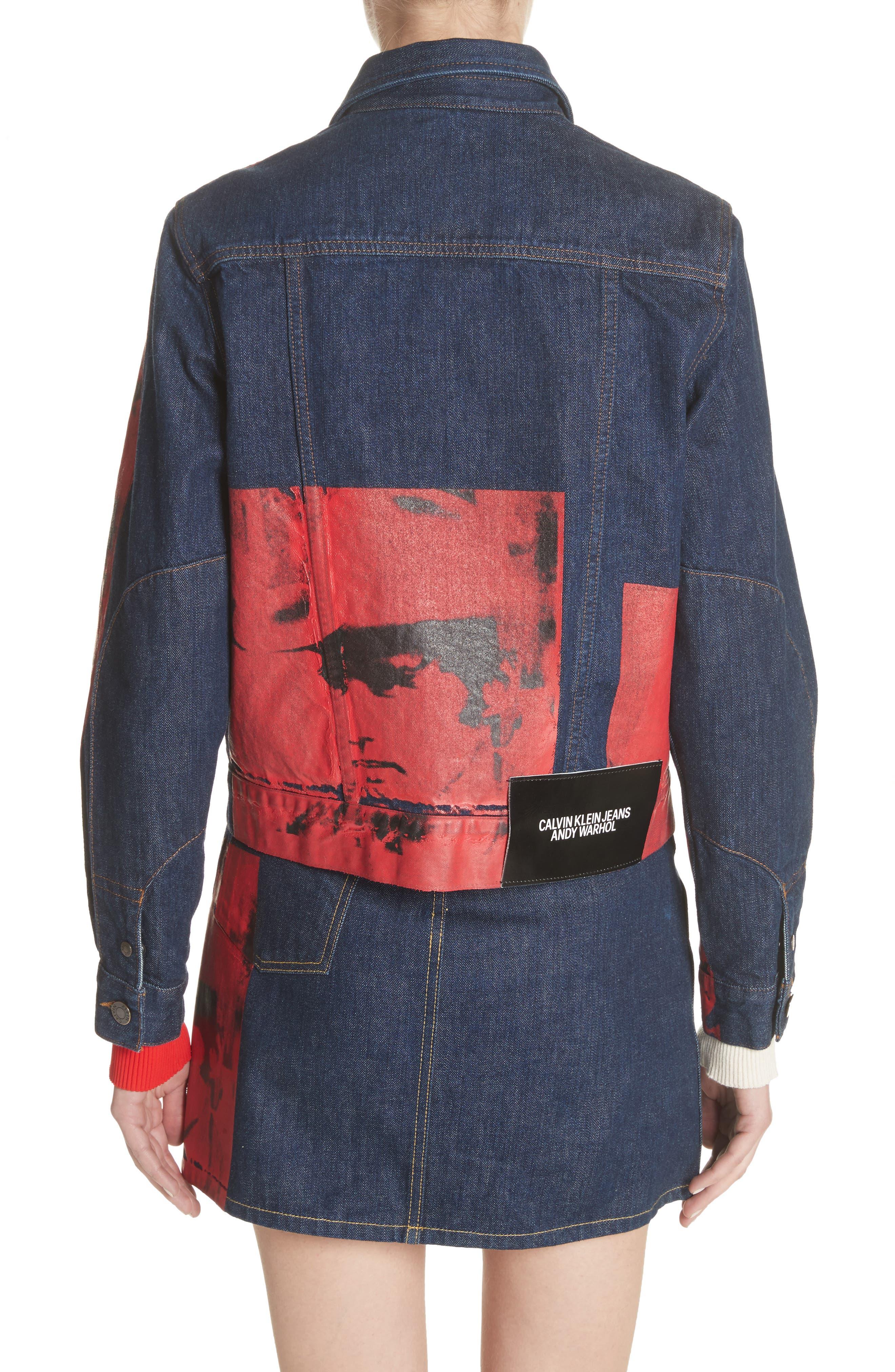 x Andy Warhol Foundation Dennis Hopper Denim Jacket,                             Alternate thumbnail 3, color,                             Blue Molten Lava
