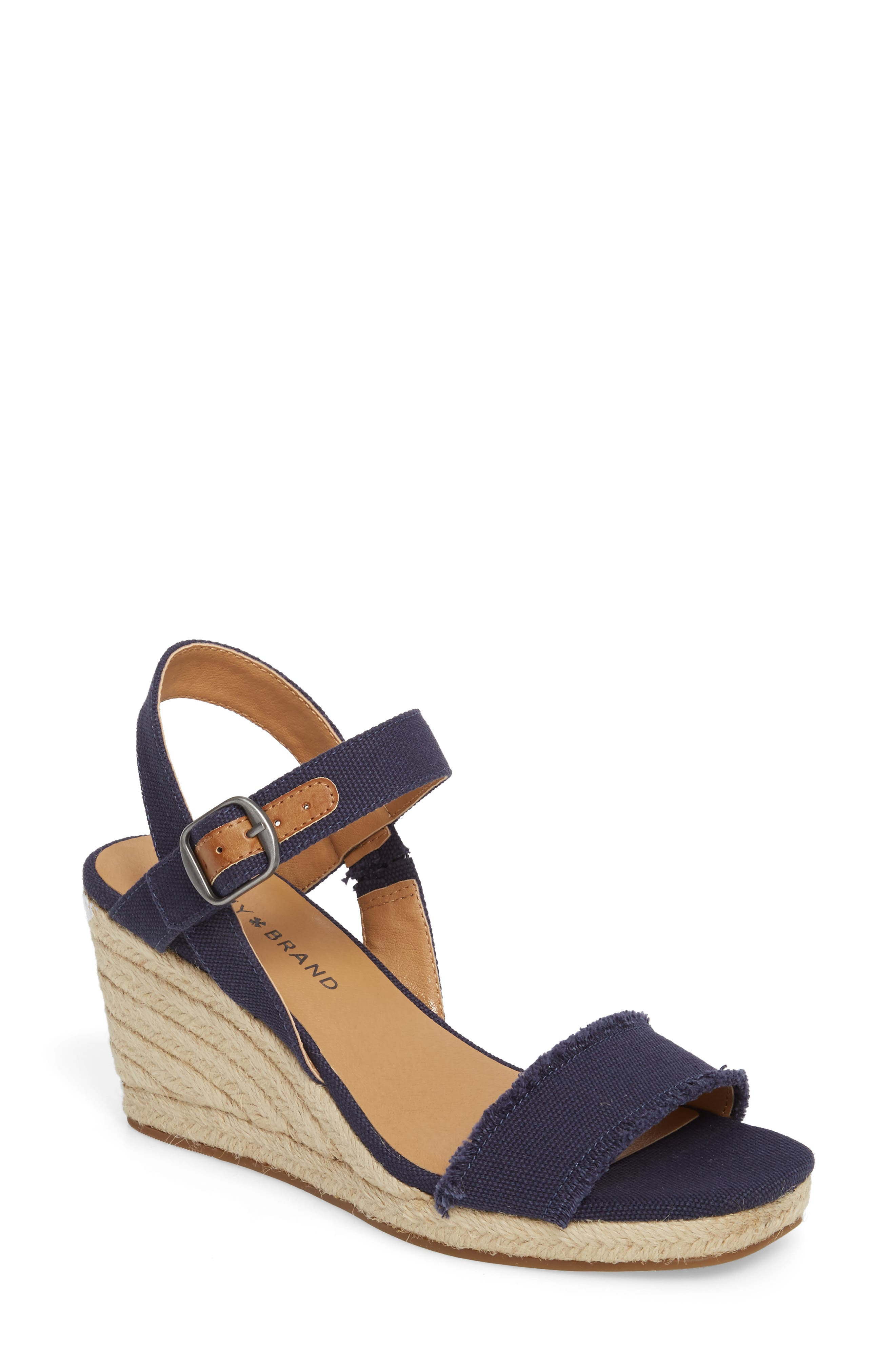 Lucky Brand Marceline Squared Toe Wedge Sandal (Women)