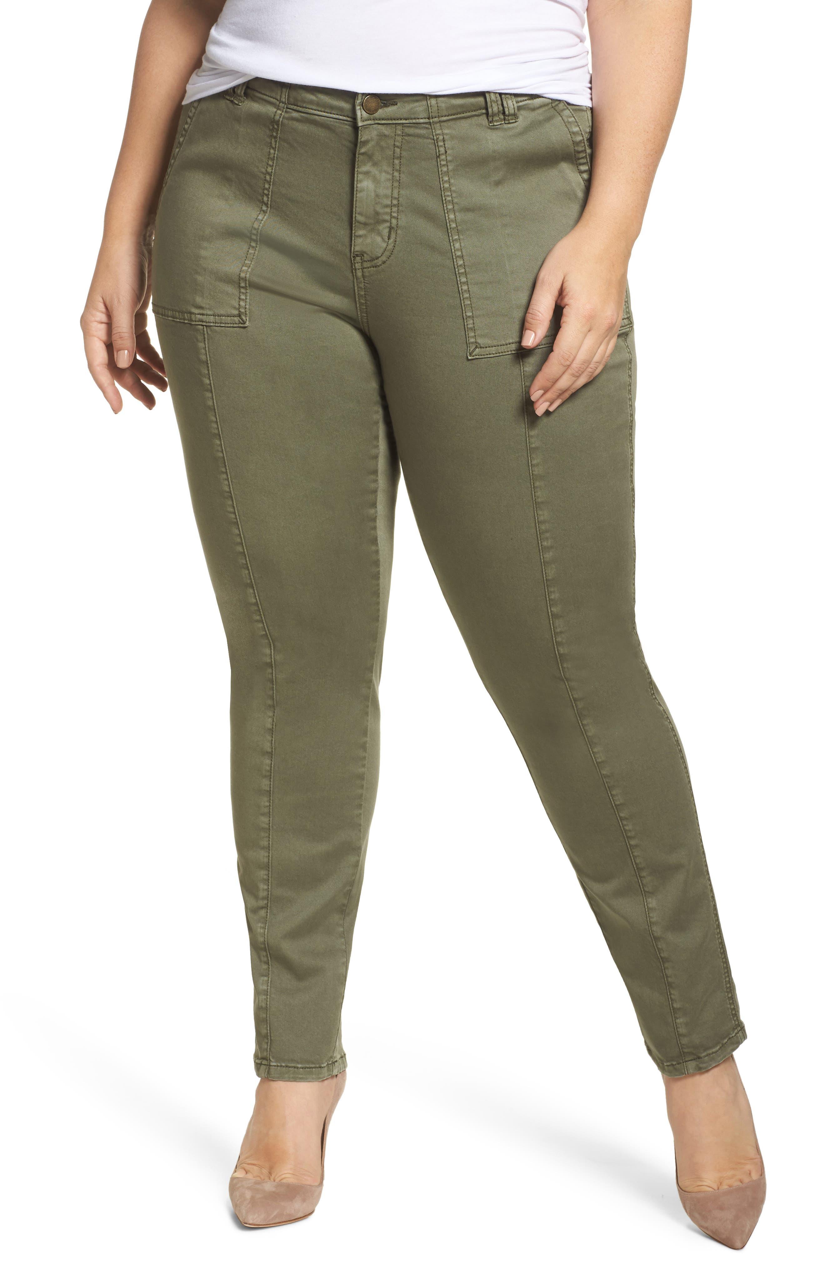Caslon® Utility Pants (Plus Size)