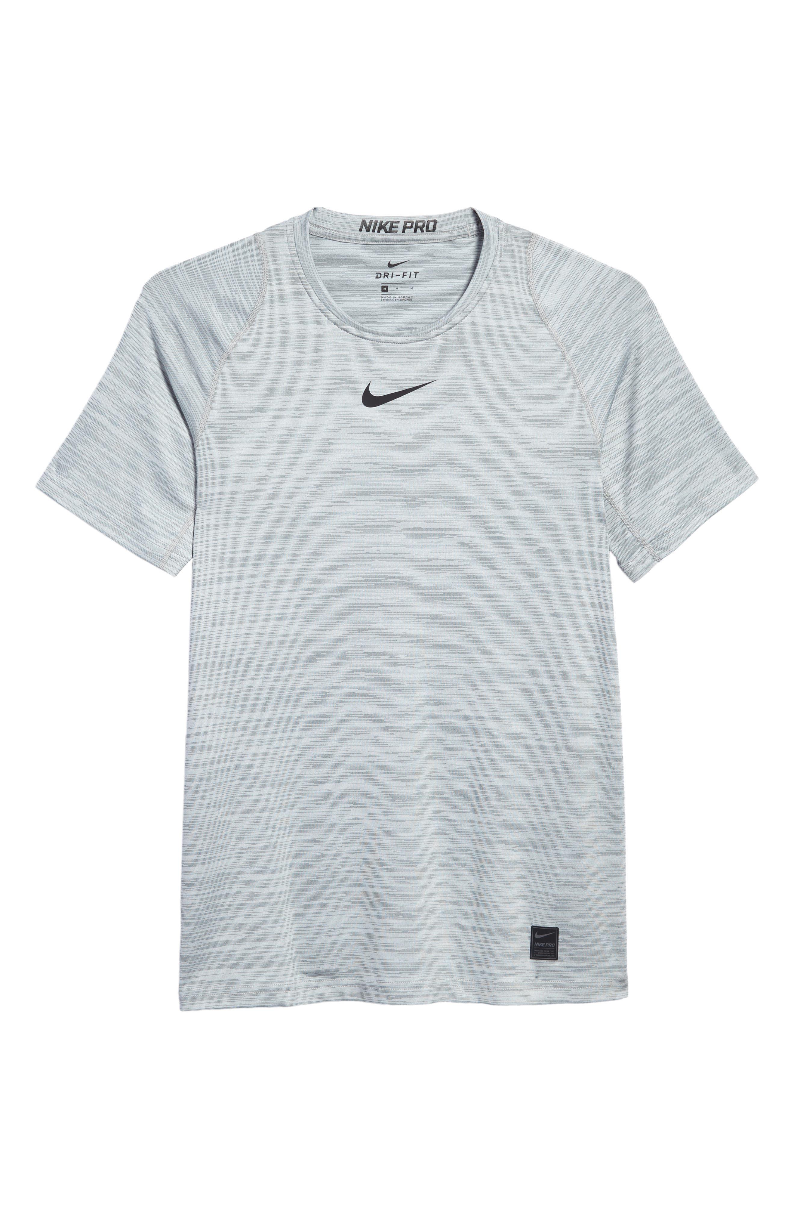 Training Top Crewneck T-Shirt,                             Alternate thumbnail 6, color,                             Cool Grey/ White/ Black