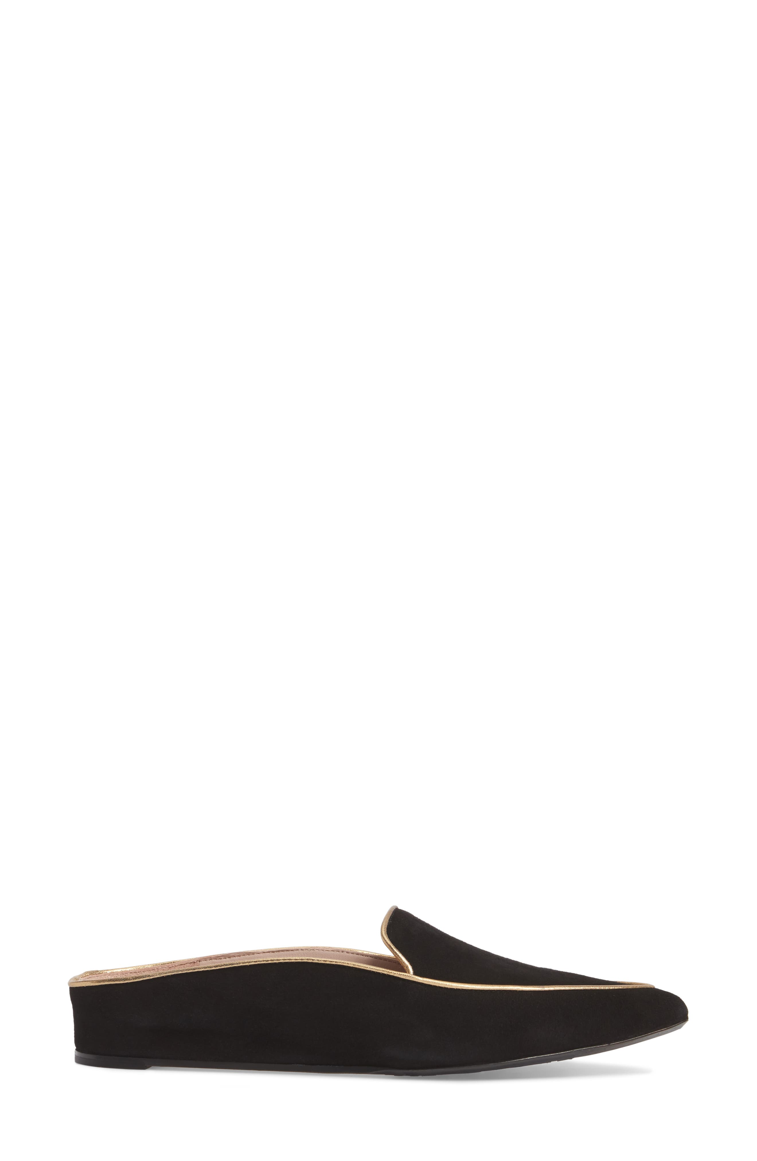 Taryn Rose Renatta Mule,                             Alternate thumbnail 3, color,                             Black/ Black Leather
