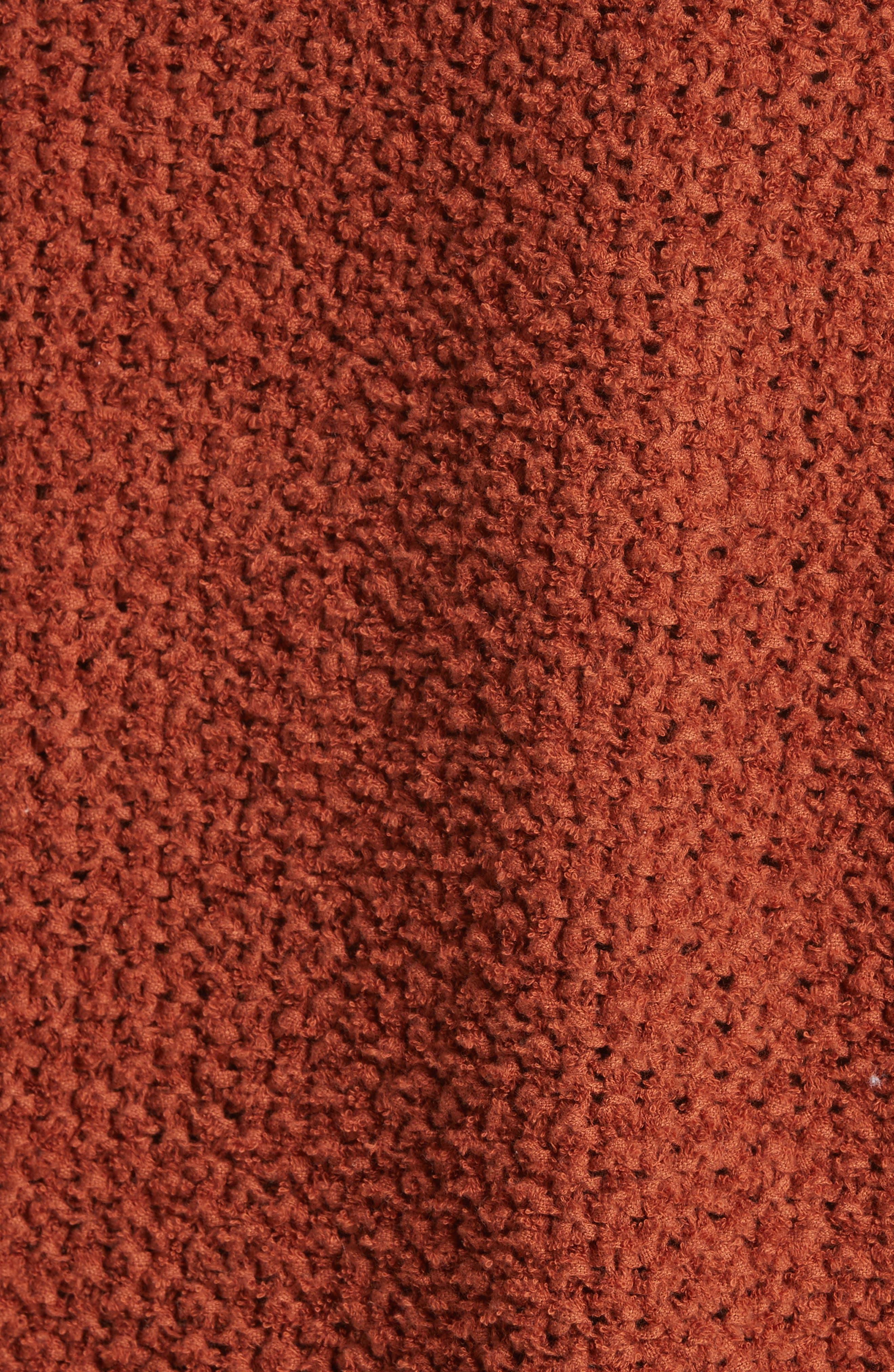 Coco V-Neck Sweater,                             Alternate thumbnail 5, color,                             Terracotta