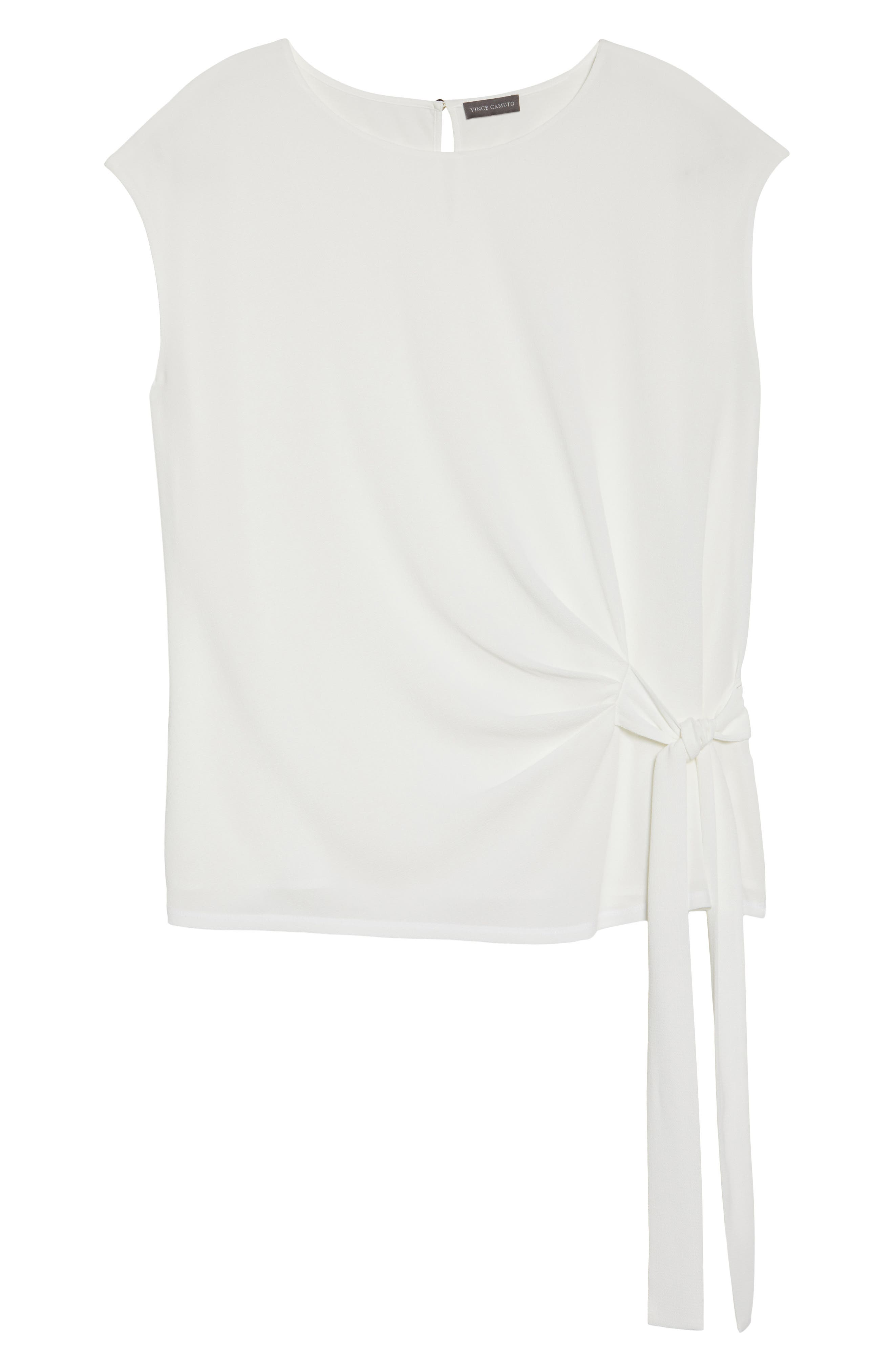 Alternate Image 6  - Vince Camuto Side Tie Mixed Media Top (Plus Size)