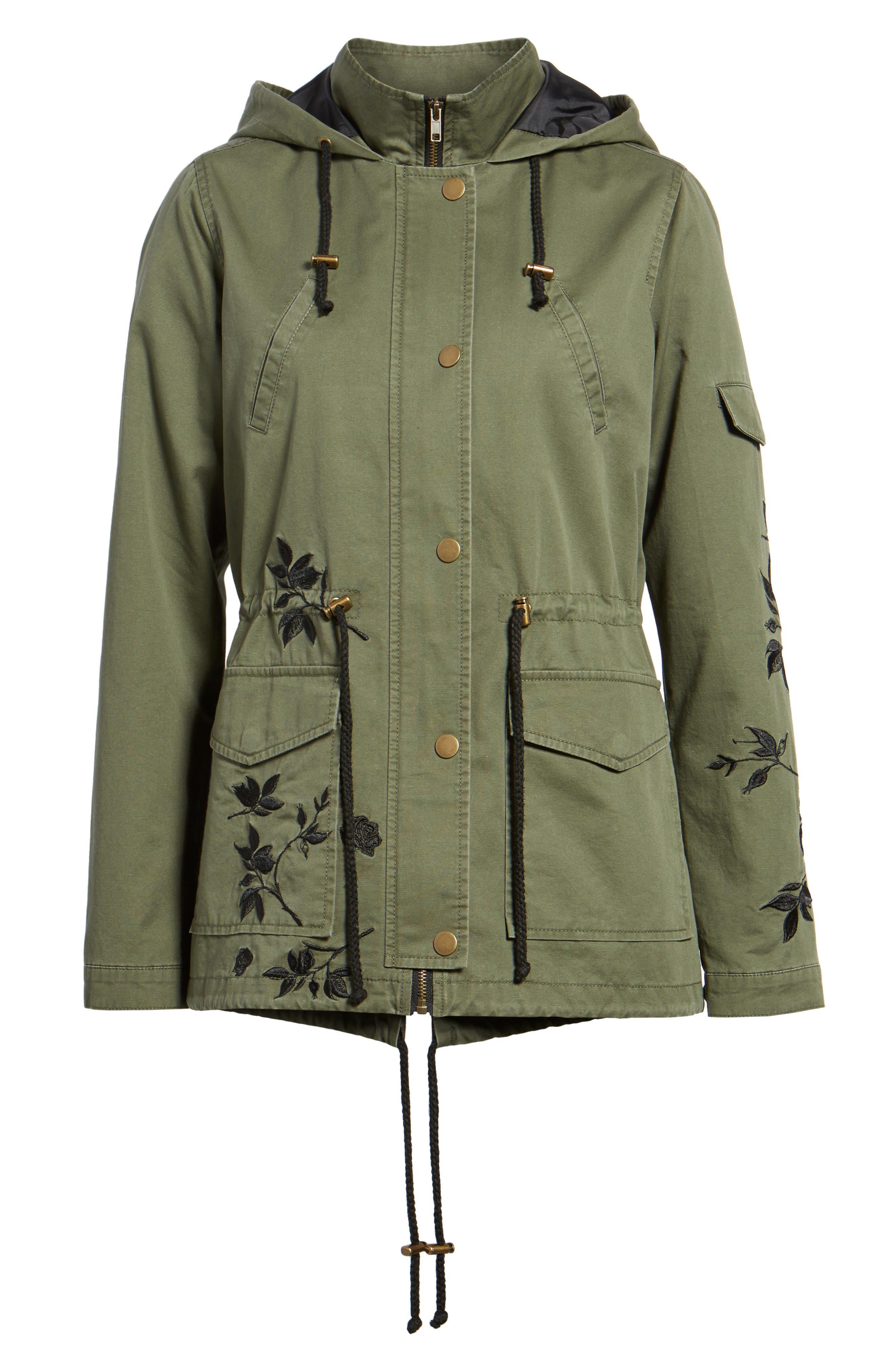 Embroidered Jacket,                             Alternate thumbnail 6, color,                             Olive