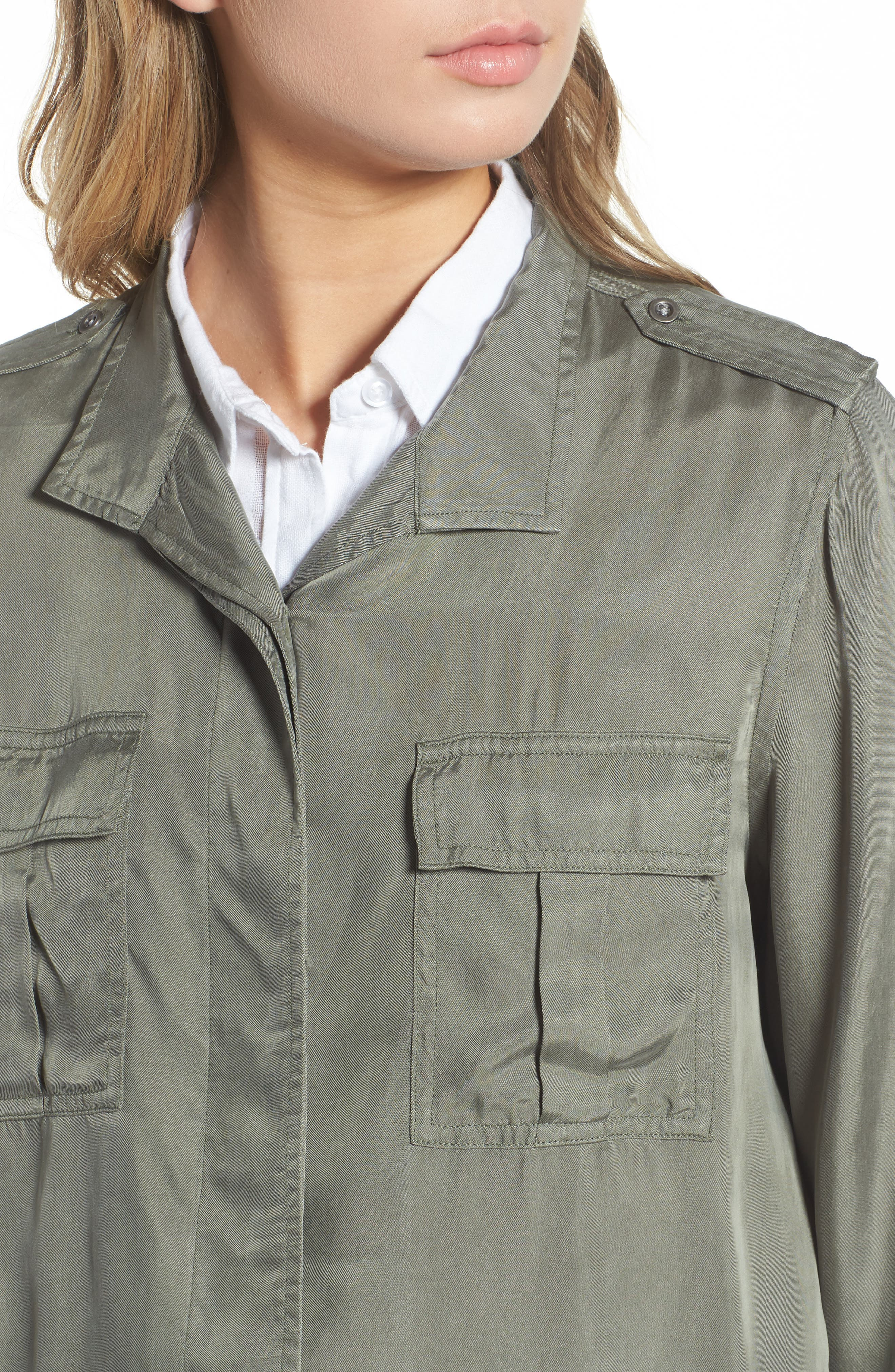 Collins Military Jacket,                             Alternate thumbnail 4, color,                             Sage