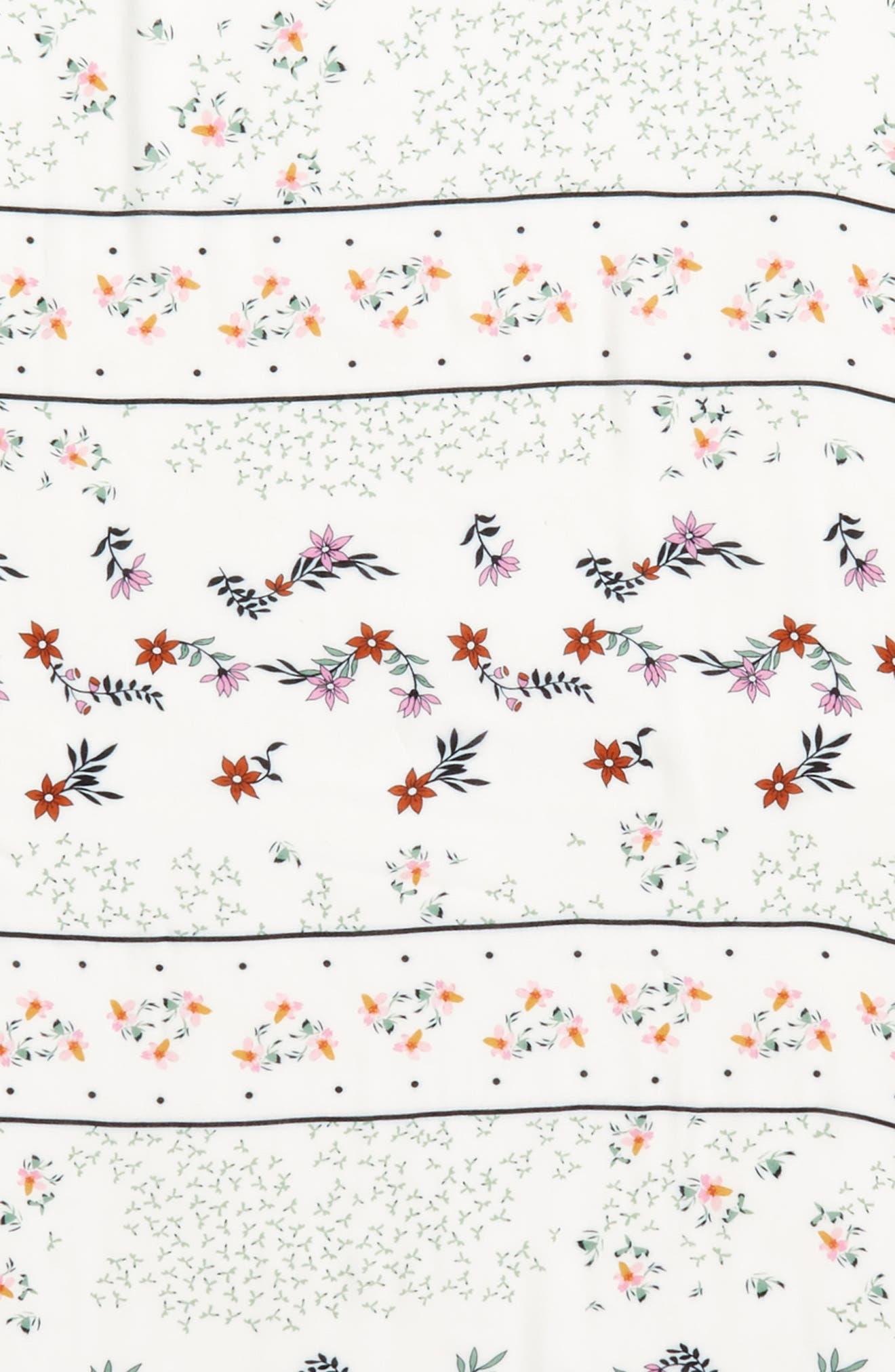 Twilight Floral Scarf,                             Alternate thumbnail 3, color,                             White