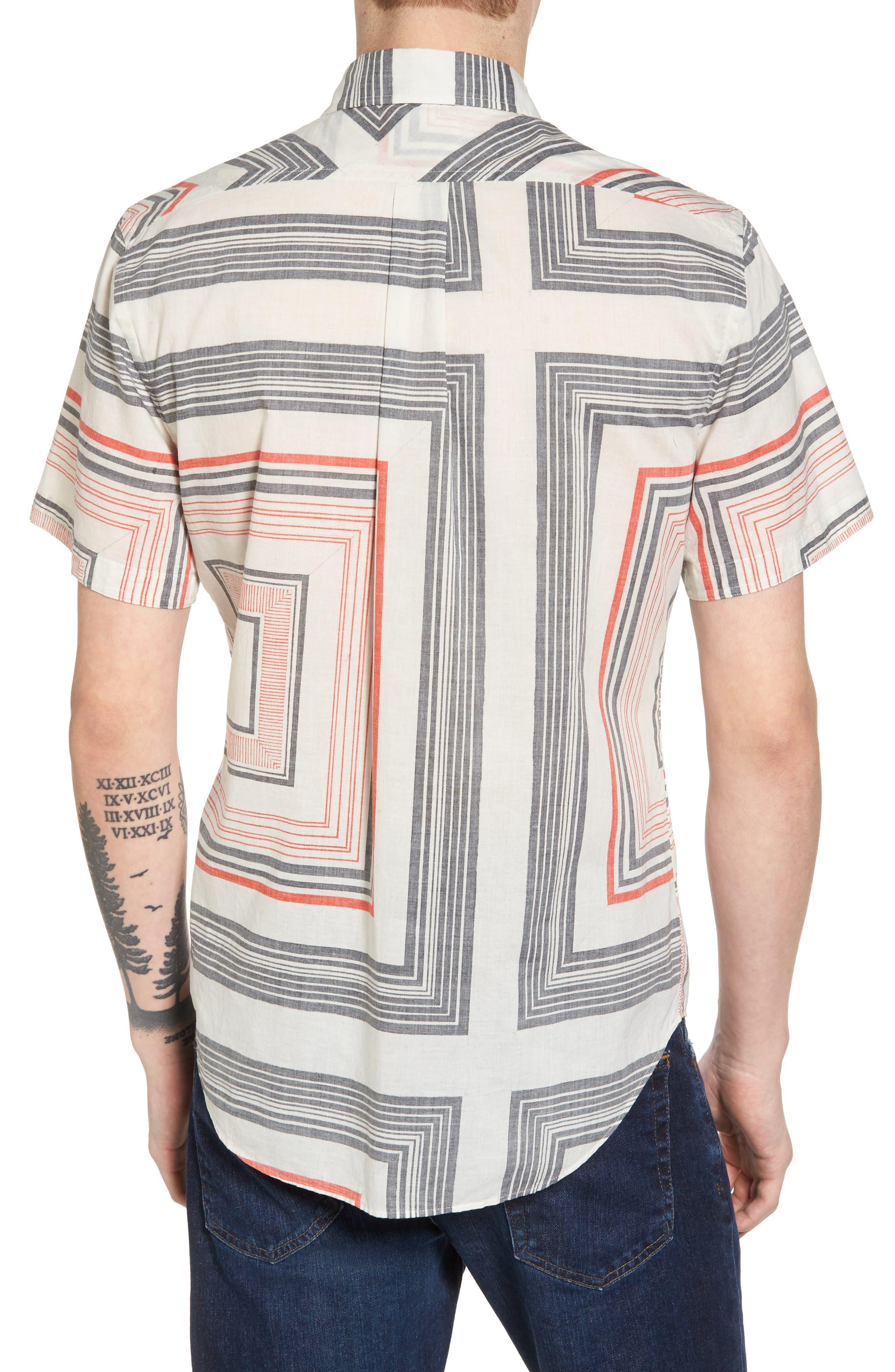 Alternate Image 2  - Billy Reid Murphy Stripe Print Sport Shirt