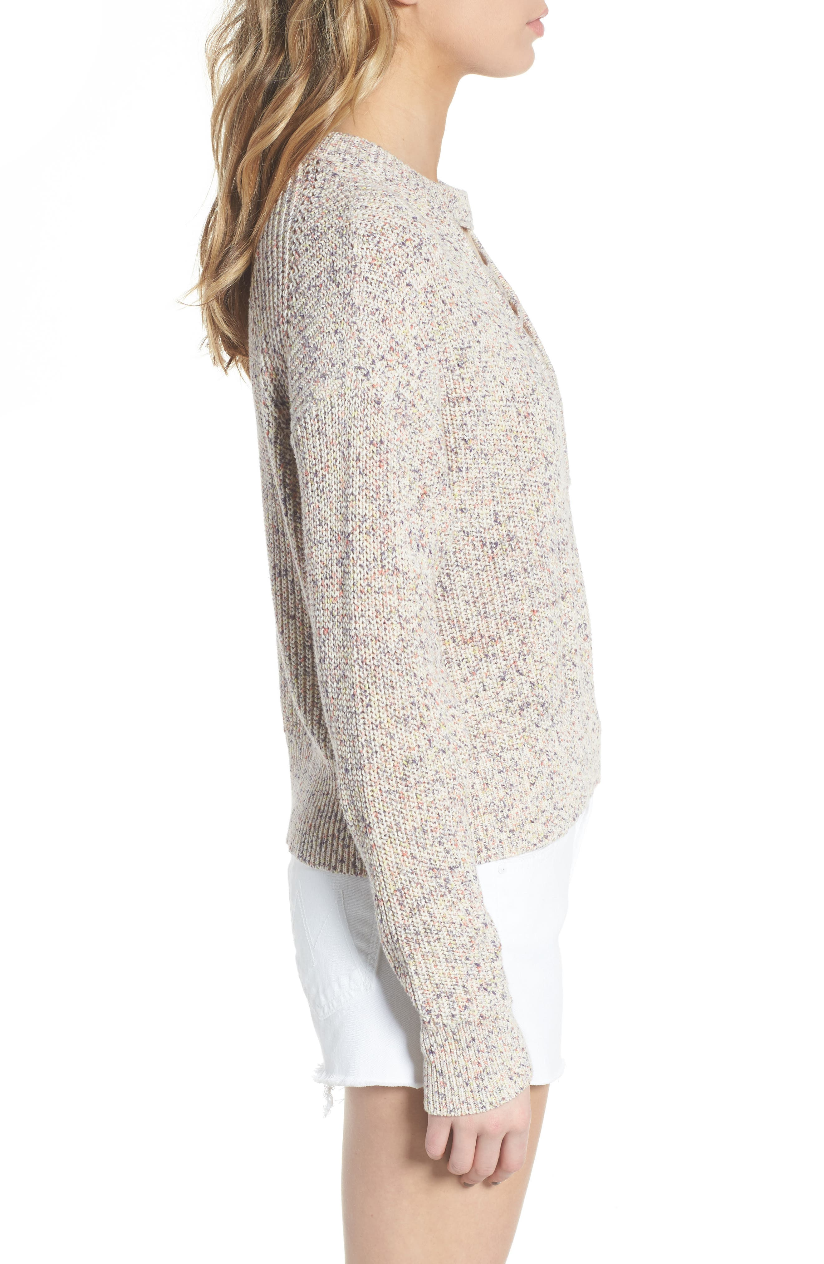 Plunging Crisscross Sweater,                             Alternate thumbnail 4, color,                             Glow Multi