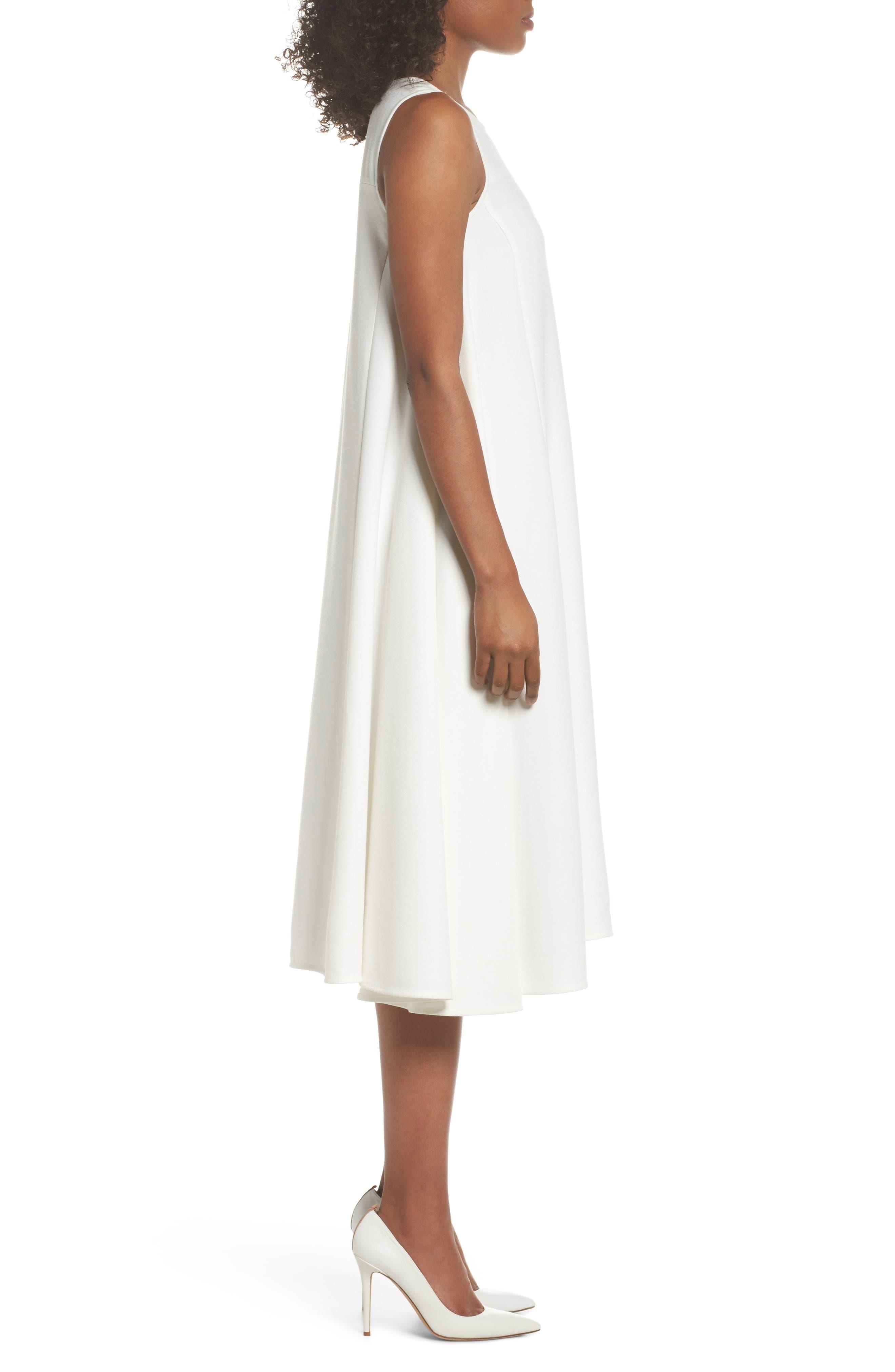 Sunday Brunch Sleeveless Midi Dress,                             Alternate thumbnail 3, color,                             White