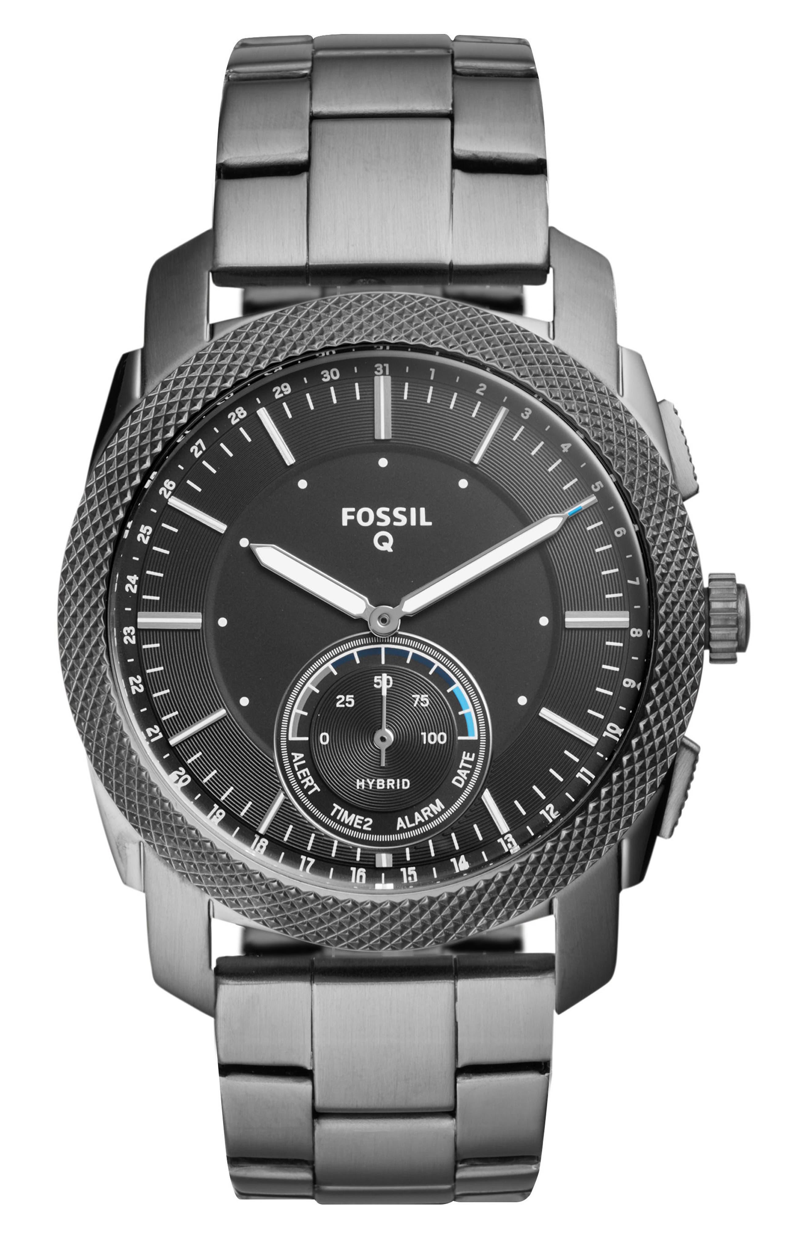 Machine Bracelet Hybrid Smart Watch, 45mm,                             Main thumbnail 1, color,                             Grey