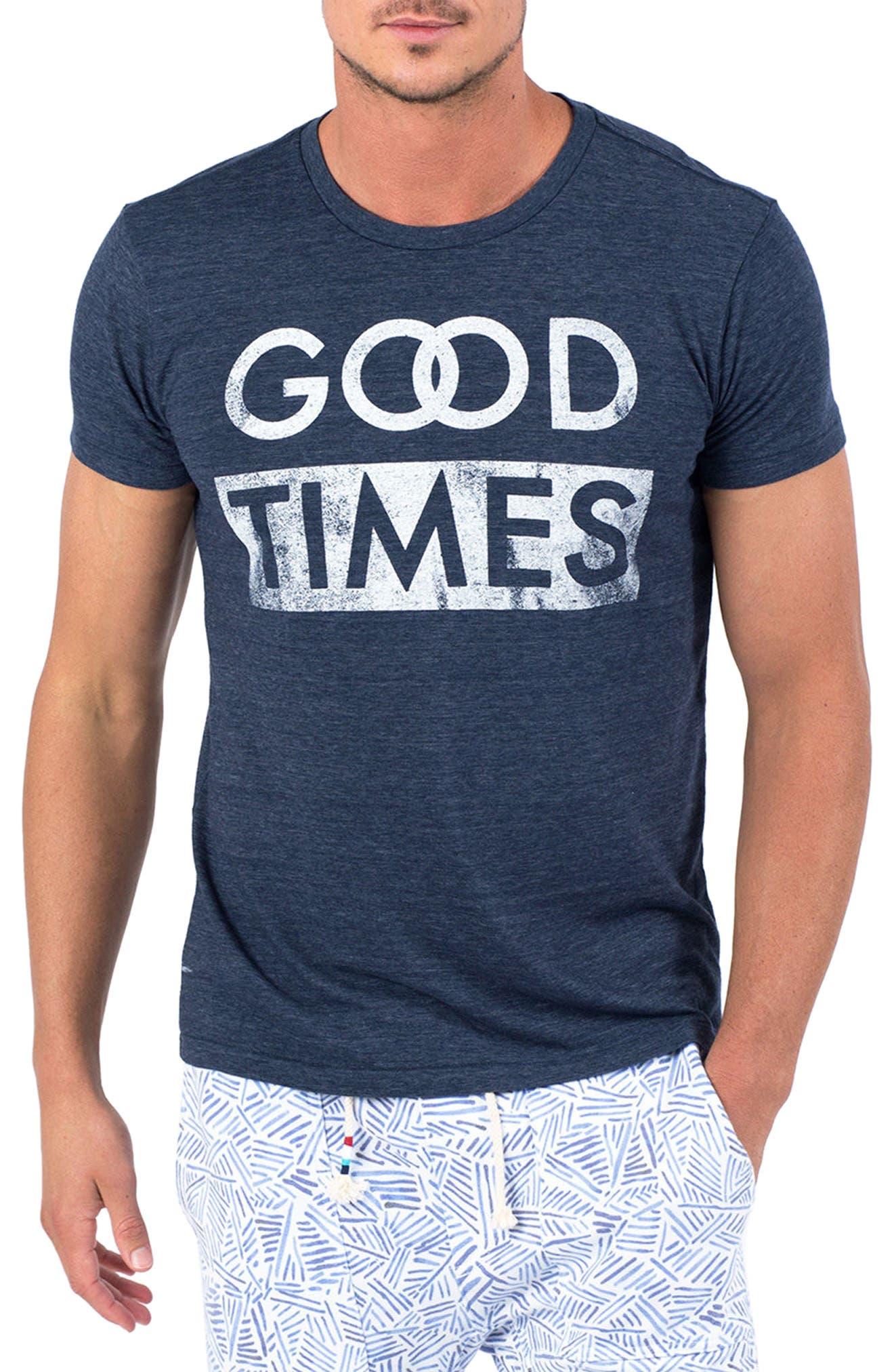 Good Times T-Shirt,                         Main,                         color, Indigo