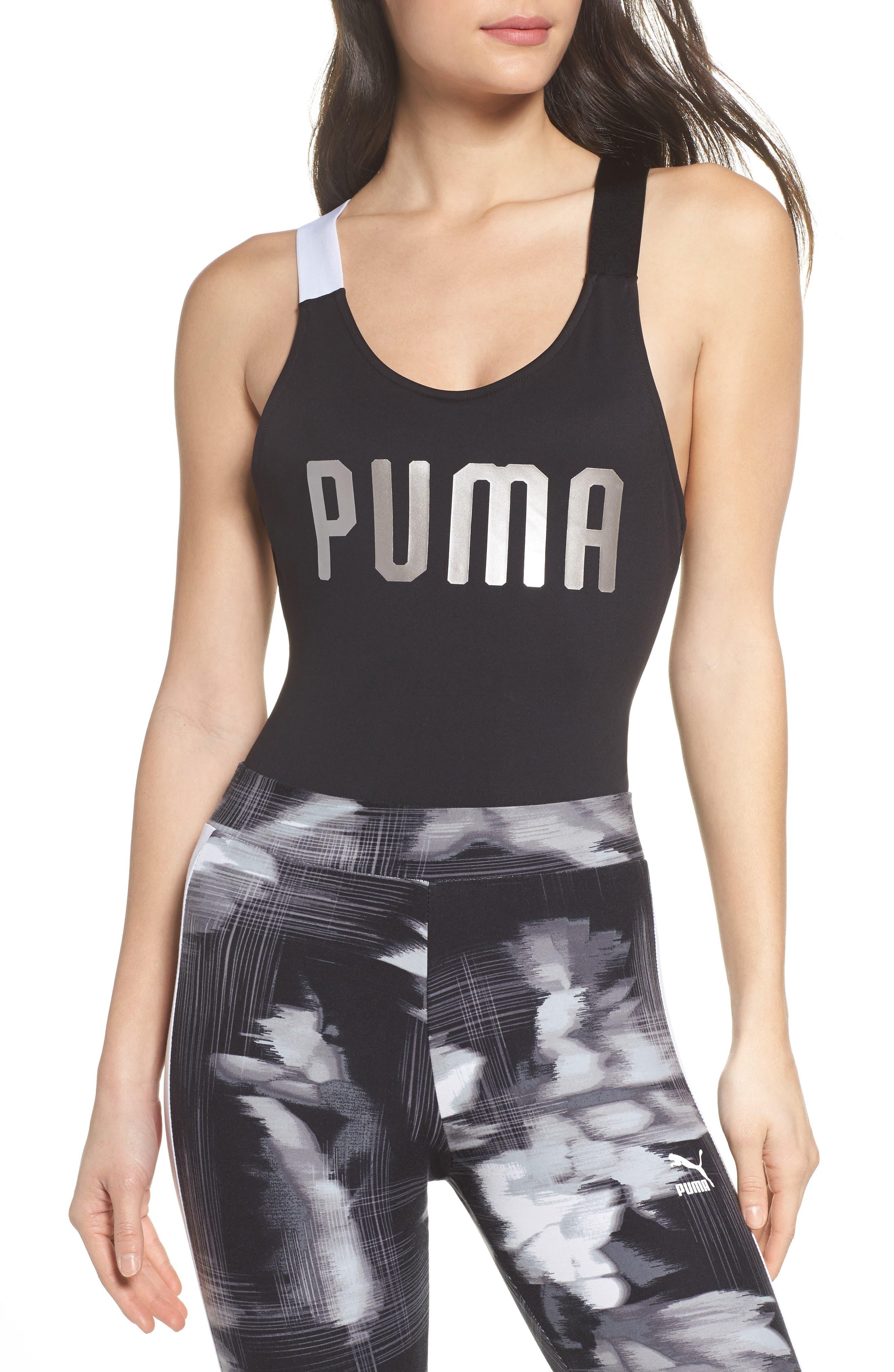 En Point Bodysuit,                             Main thumbnail 1, color,                             Puma Black