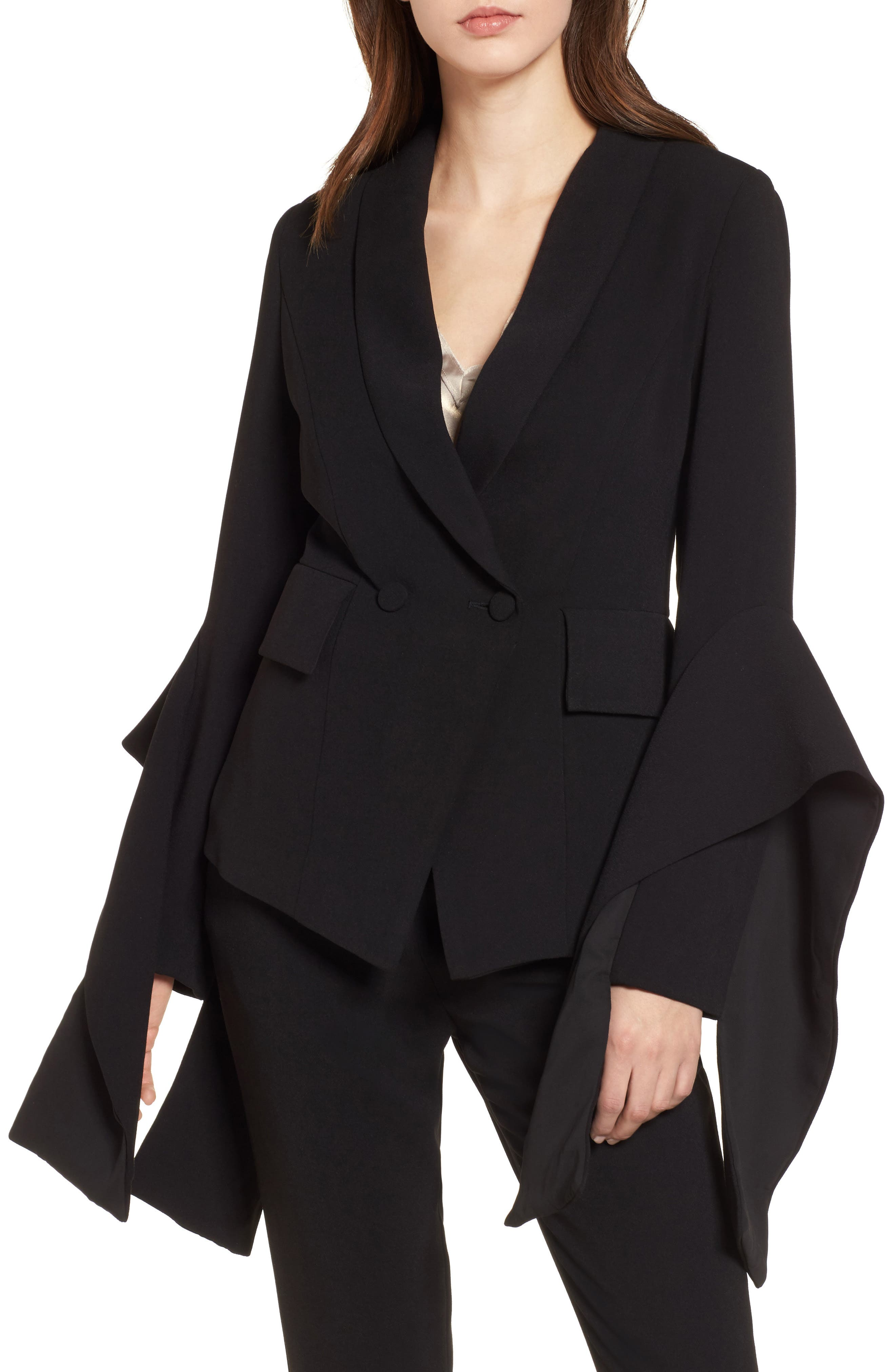 Elliatt Iris Embellished Cuff Blazer