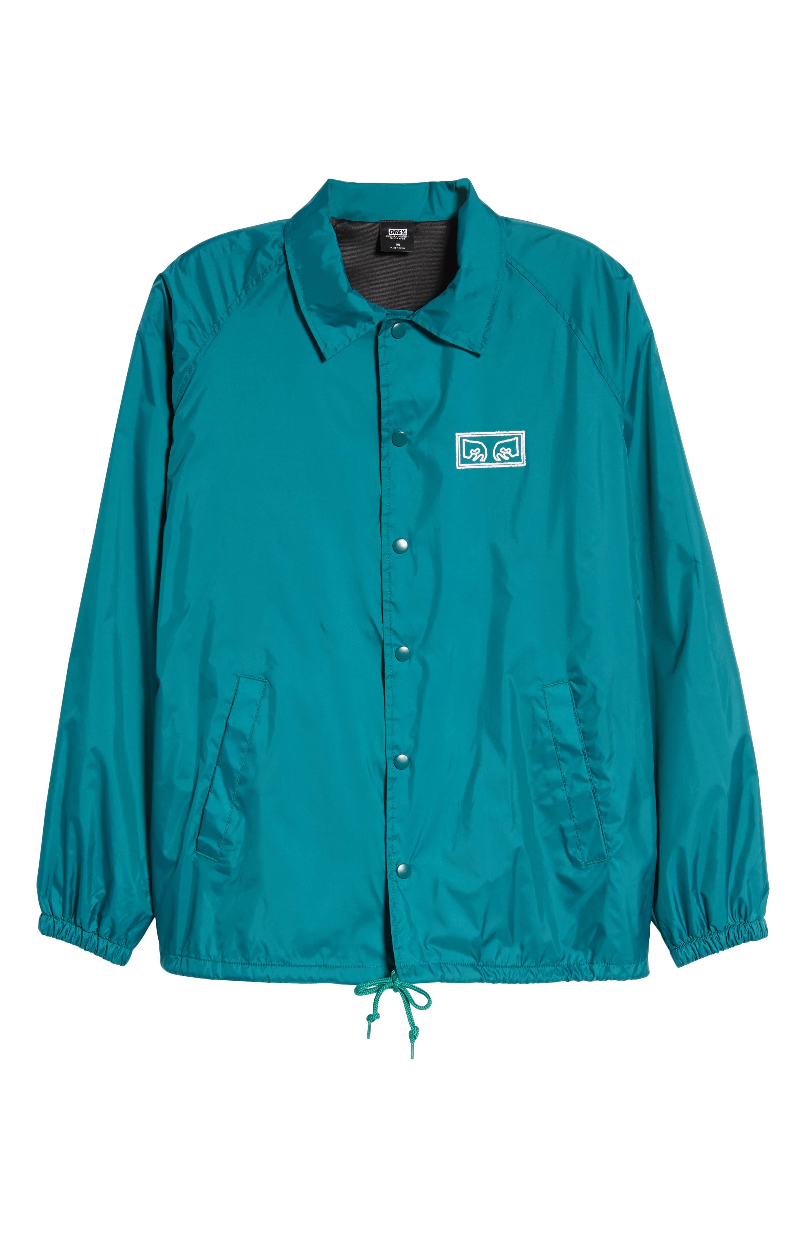 Eyes Coaches Jacket,                             Alternate thumbnail 6, color,                             Teal