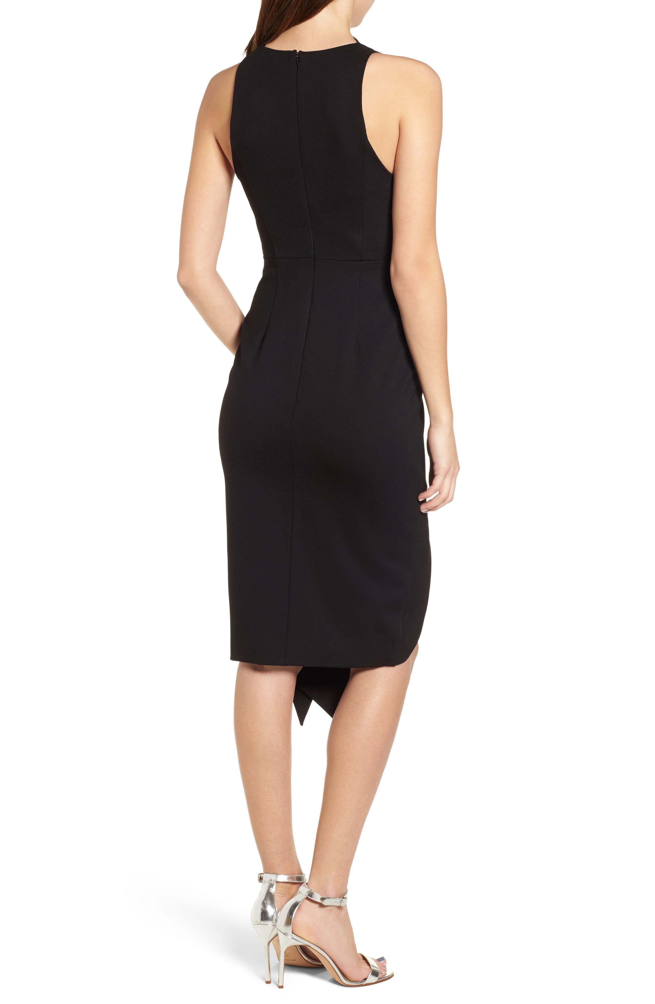 Carmen Sheath Dress,                             Alternate thumbnail 2, color,                             Black