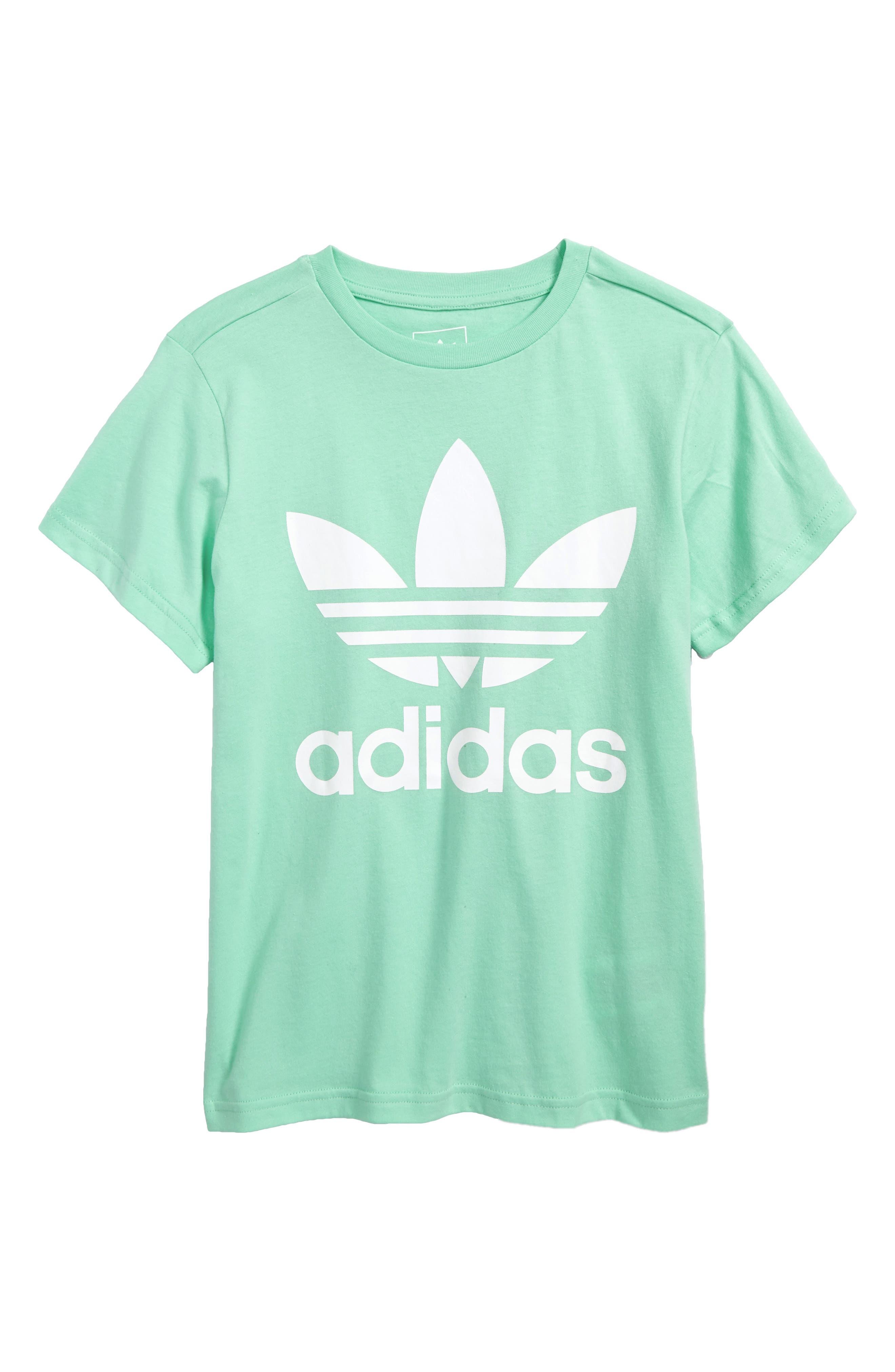 adidas Trefoil Logo Tee,                         Main,                         color, Green