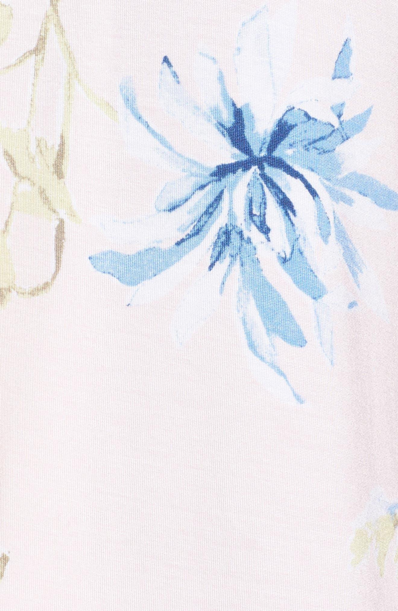 Moonlight Short Pajamas,                             Alternate thumbnail 6, color,                             Pink Frosty Spring Dream