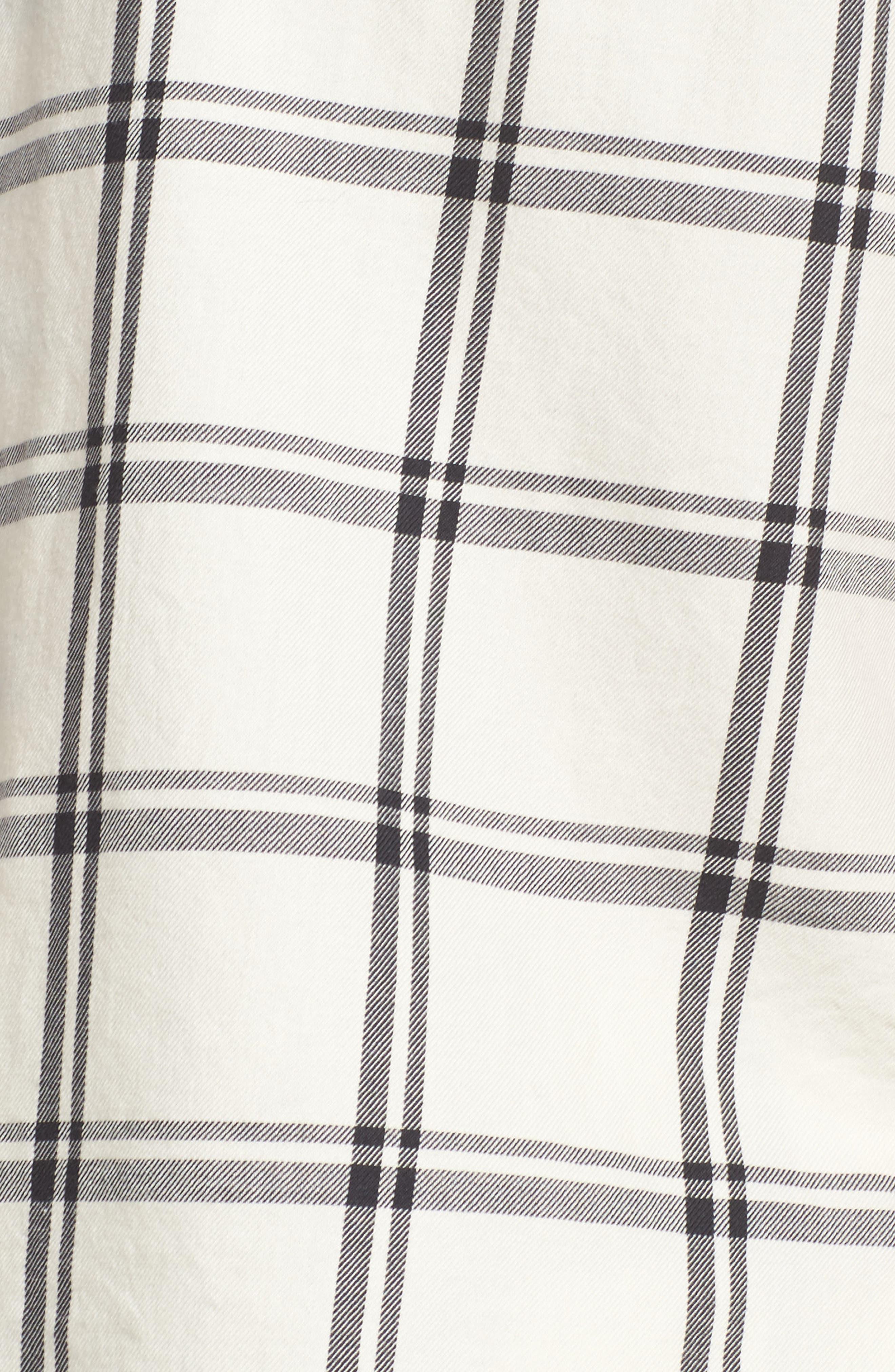 Amelia Short Pajamas,                             Alternate thumbnail 6, color,                             Cream/ Black