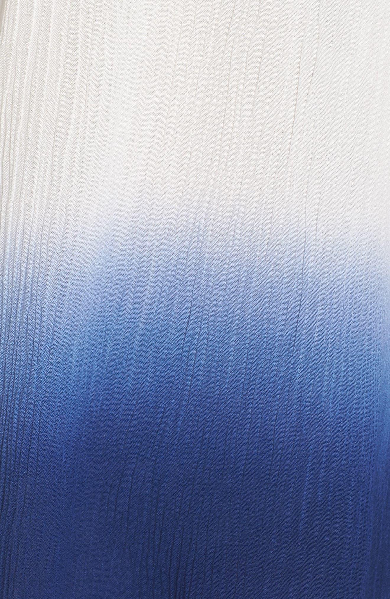 Big Sur Dip Dyed Cover-Up Boyfriend Shirt,                             Alternate thumbnail 4, color,                             Indigo