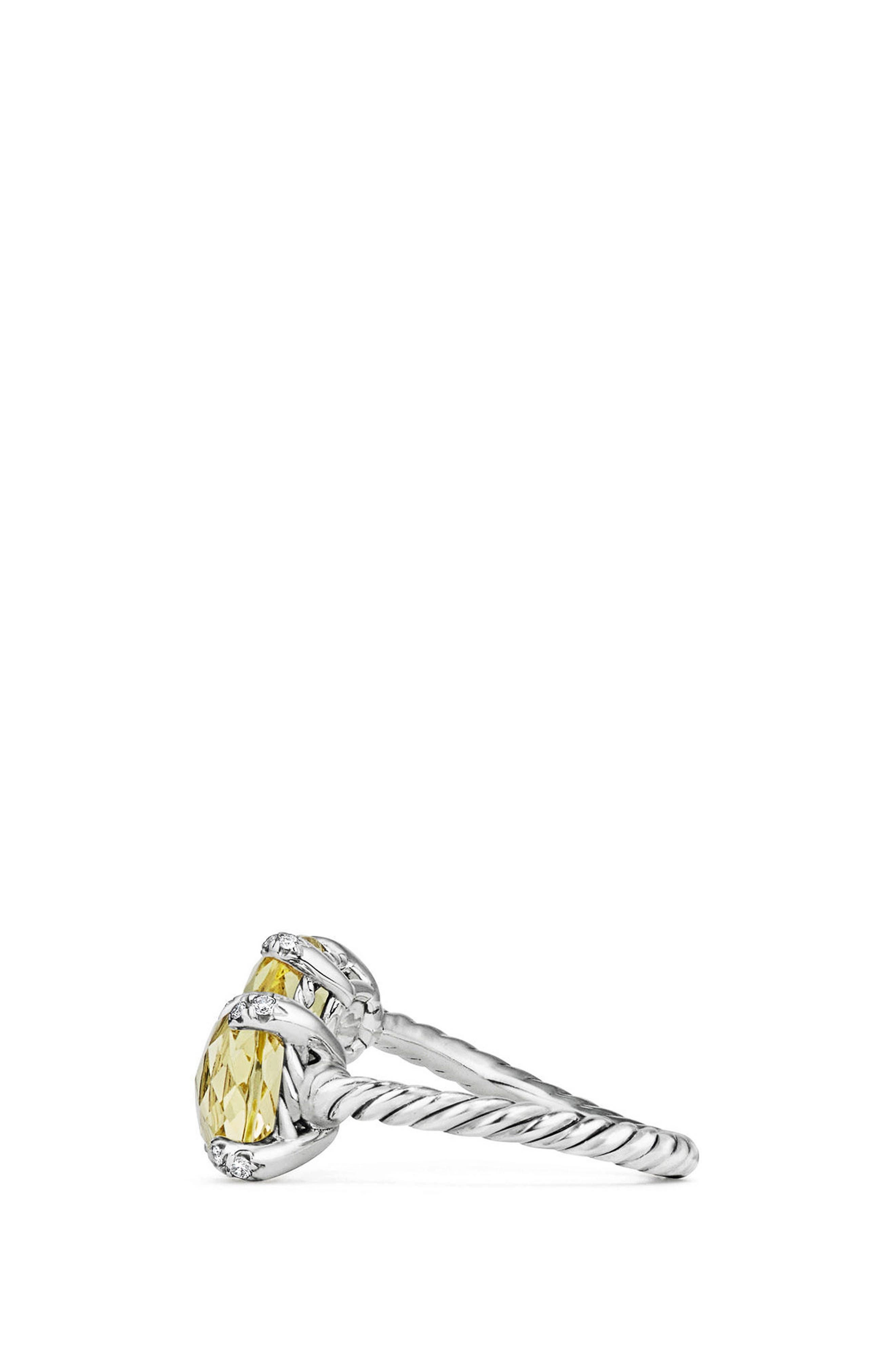 Châtelaine Bypass Ring with Diamonds,                             Alternate thumbnail 2, color,                             Lemon Citrine?