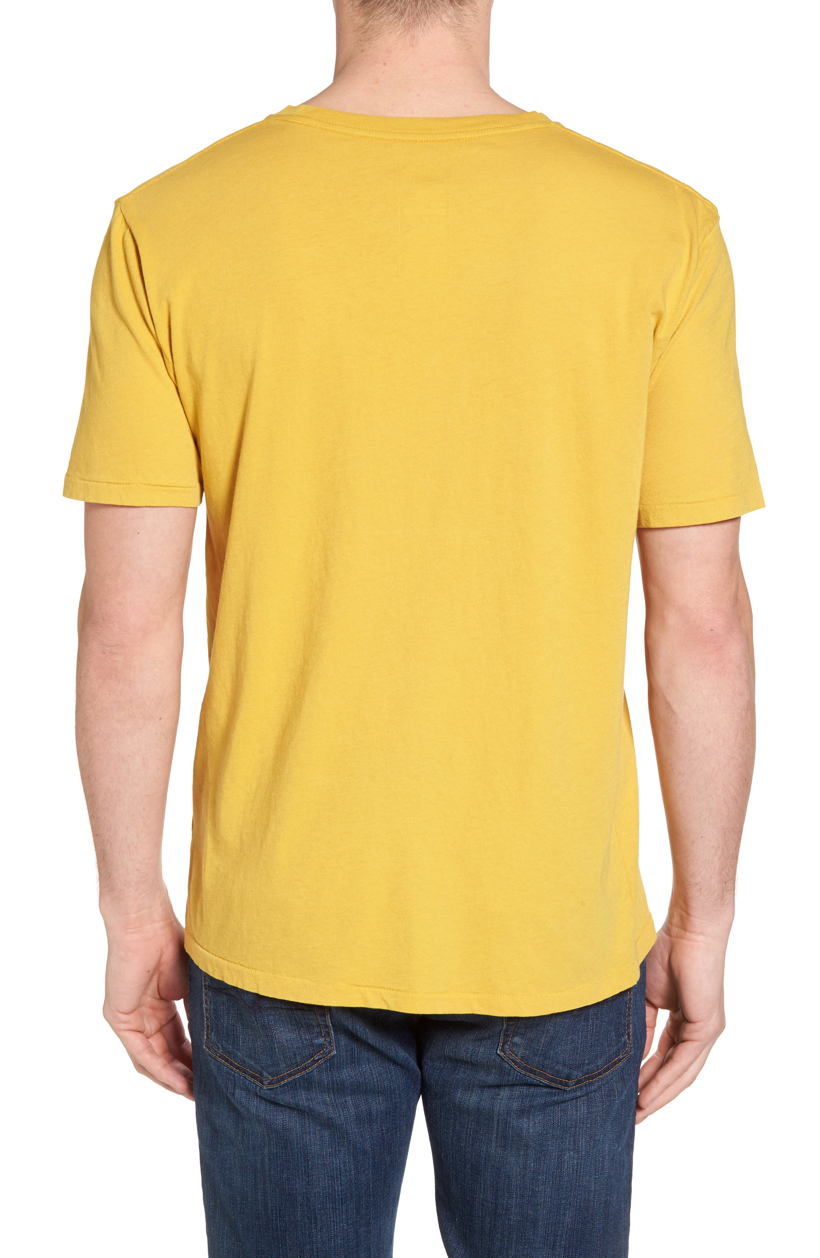 Well Loved Edge to Edge T-Shirt,                             Alternate thumbnail 2, color,                             Olivenite Yellow