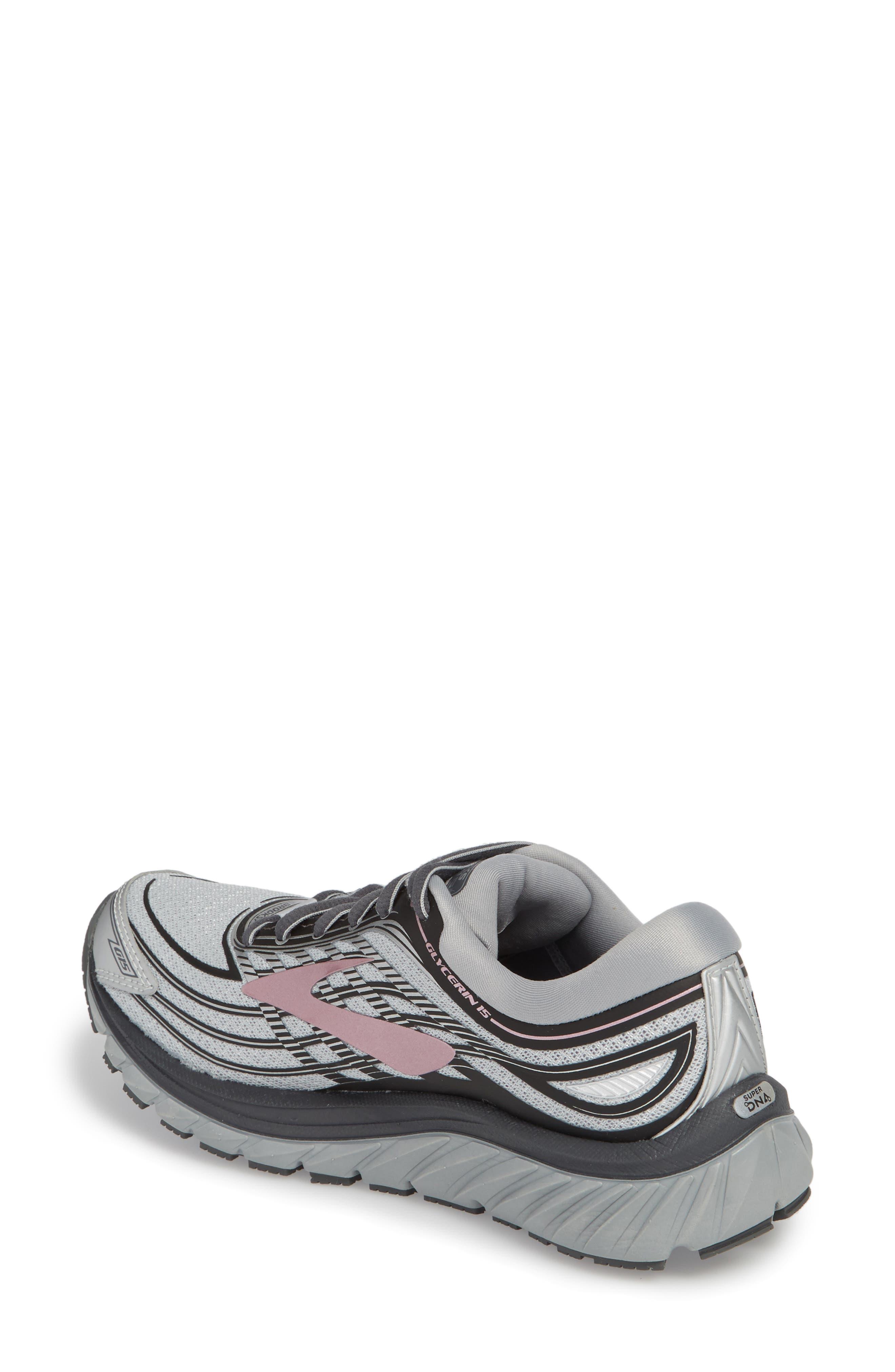 Glycerin 15 Running Shoe,                             Alternate thumbnail 2, color,                             Silver/ Grey/ Rose