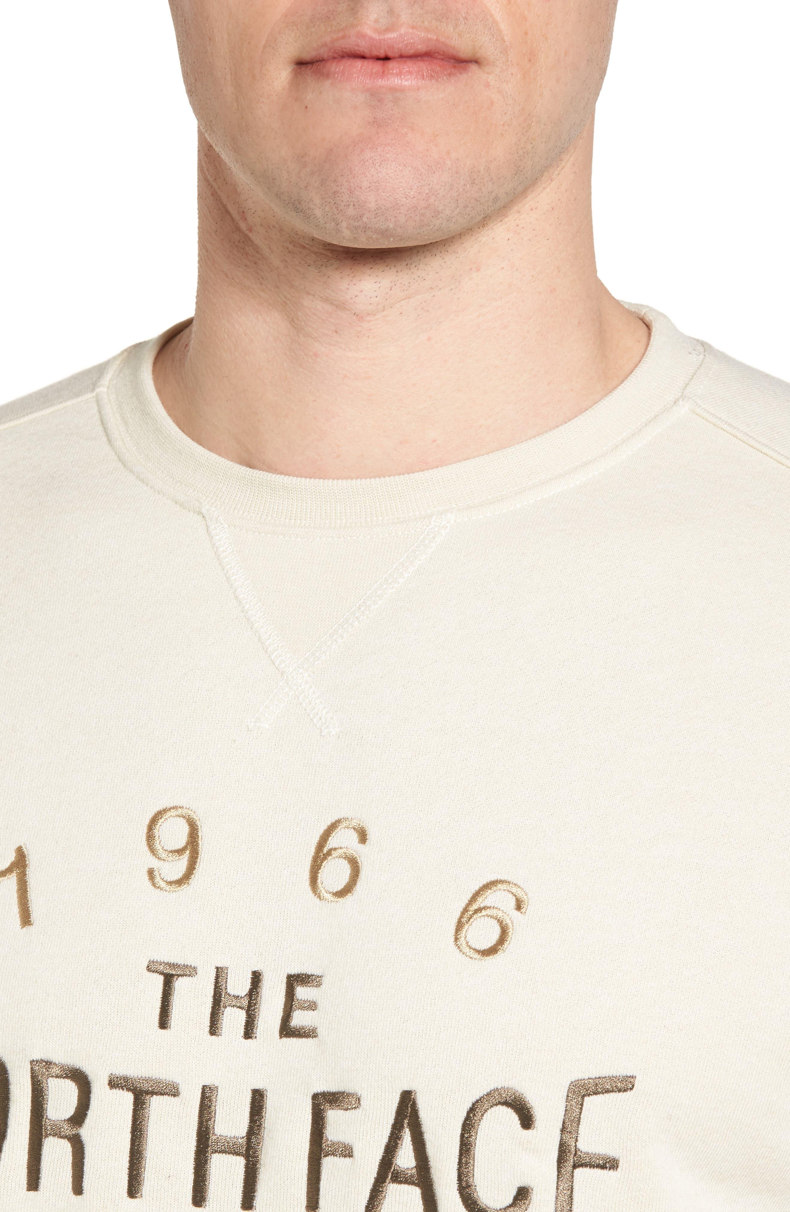 66 Classic Crew Sweatshirt,                             Alternate thumbnail 4, color,                             Vintage White Heather