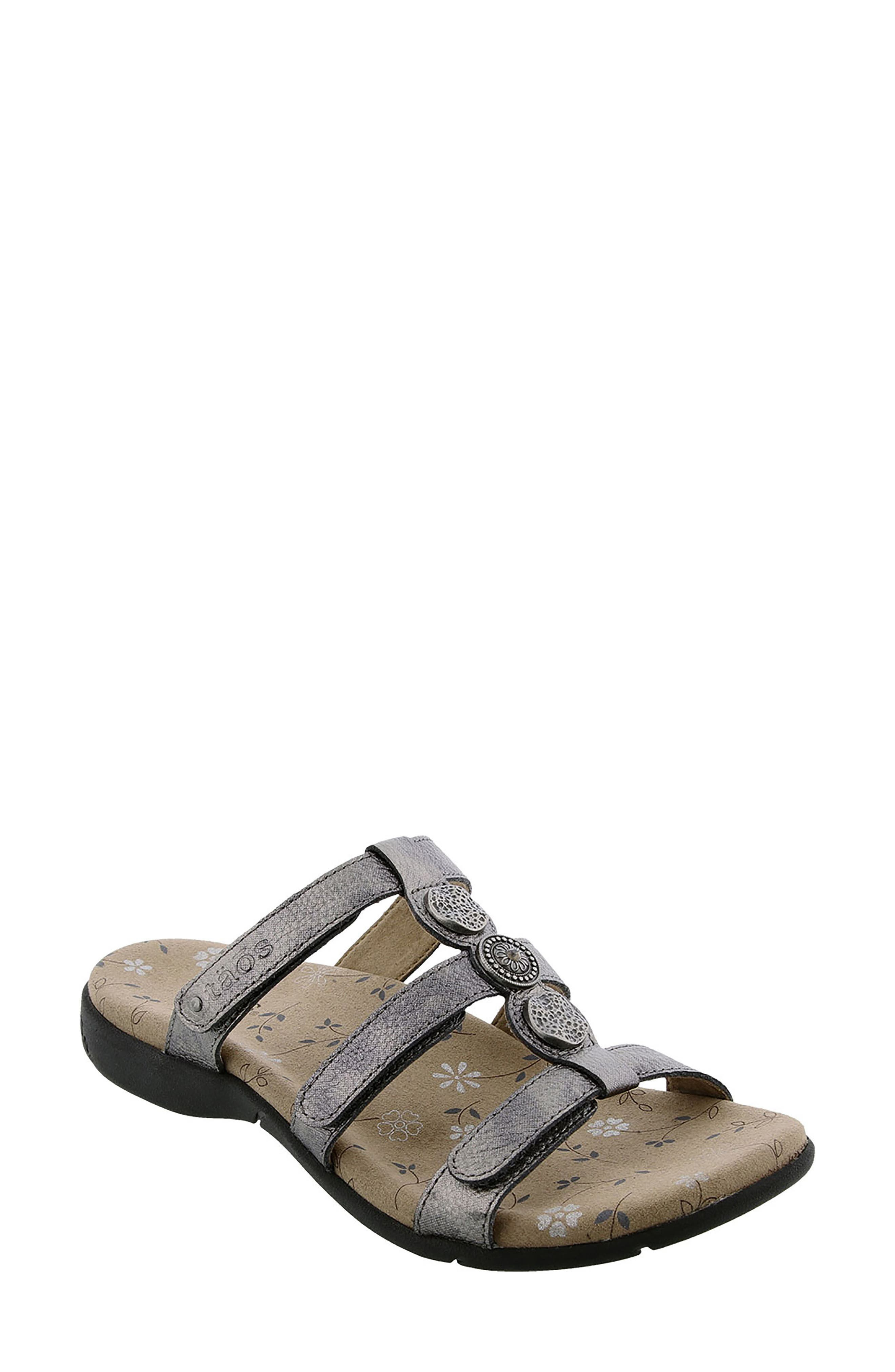 Prize 3 Sandal,                             Main thumbnail 1, color,                             Pewter Leather