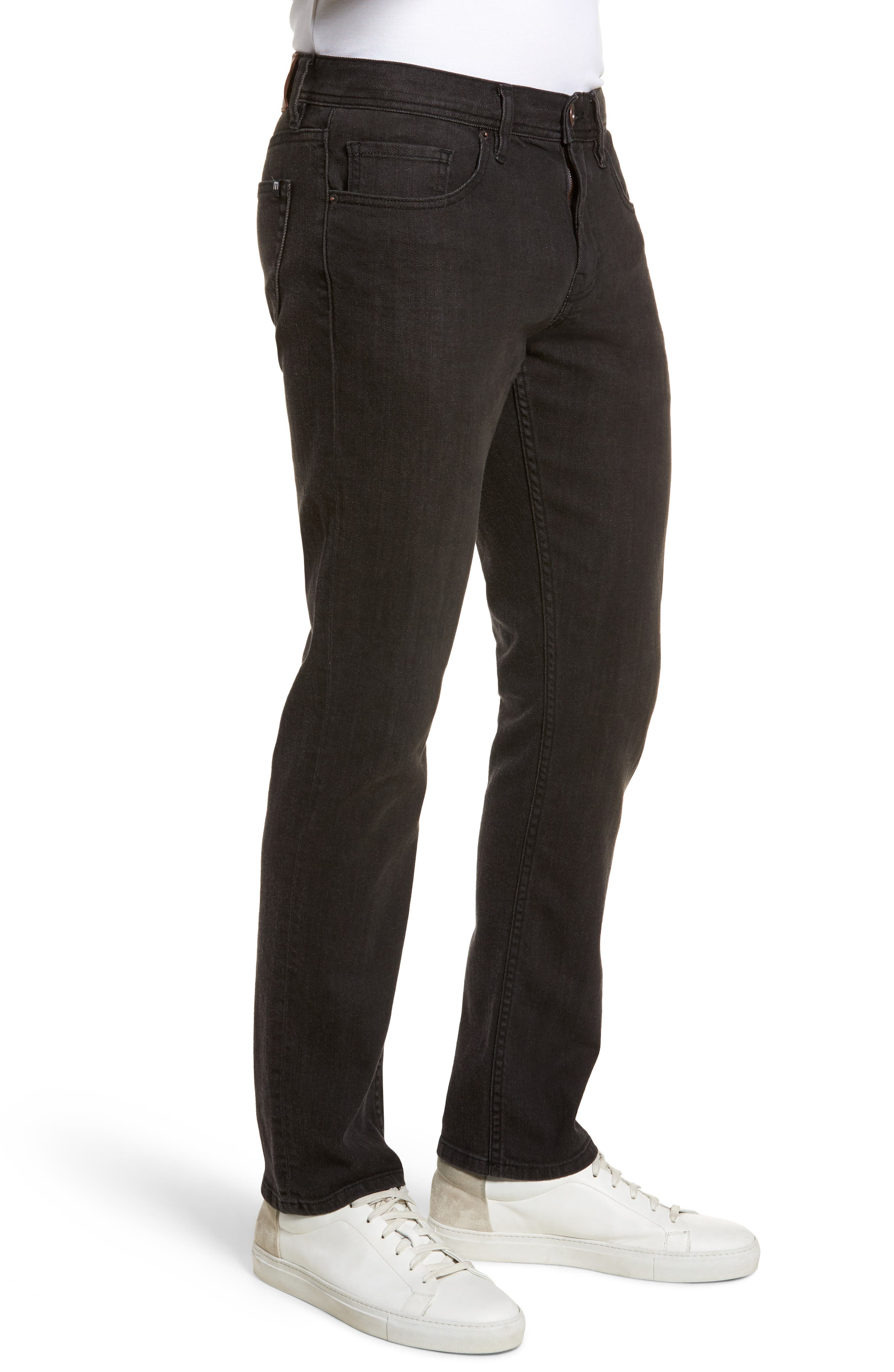 The Standard Regular Fit Straight Leg Jeans,                             Alternate thumbnail 3, color,                             Charcoal